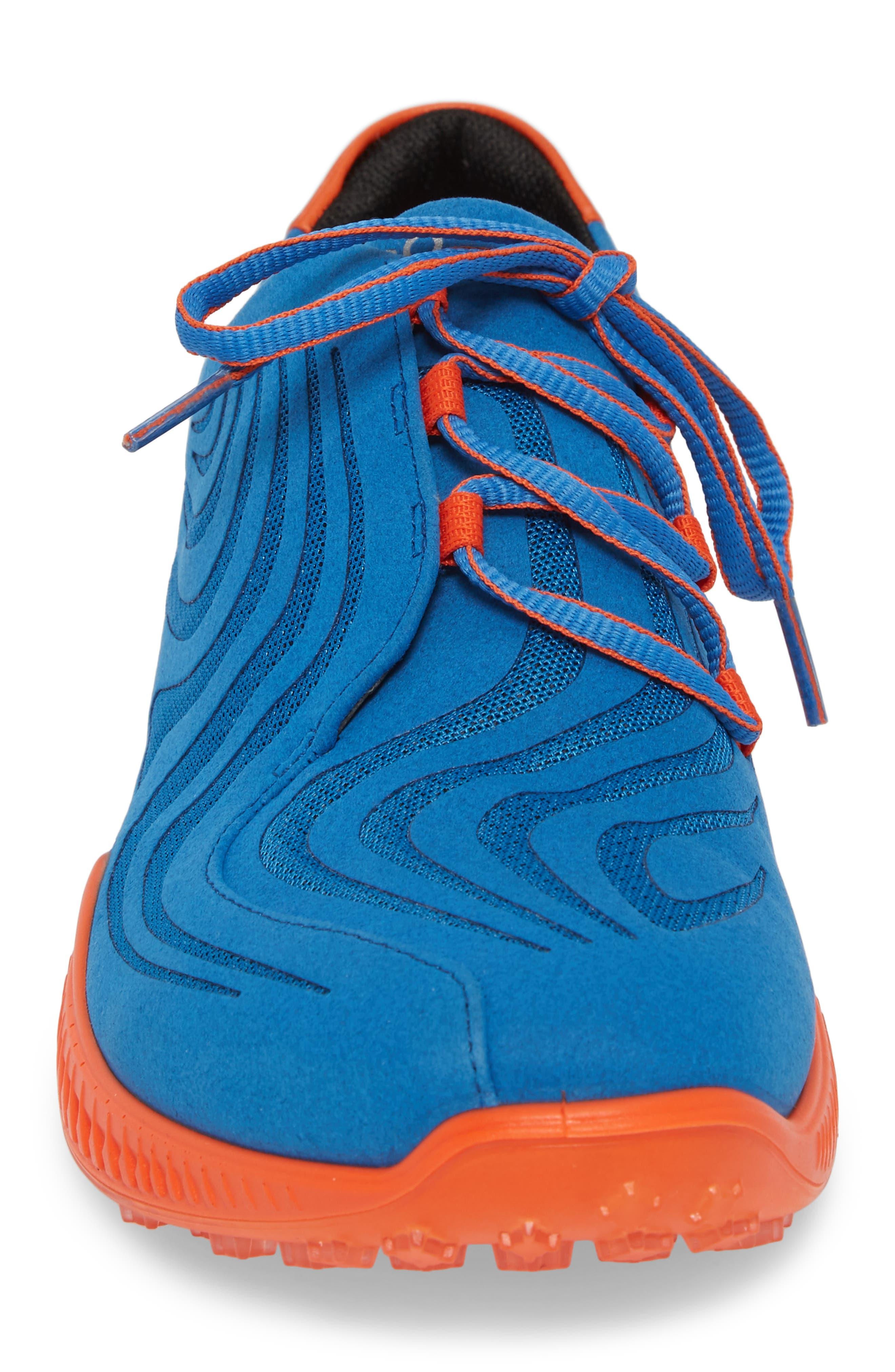 Golf S-Drive Water Resistant Shoe,                             Alternate thumbnail 4, color,                             Bermuda Blue Leather