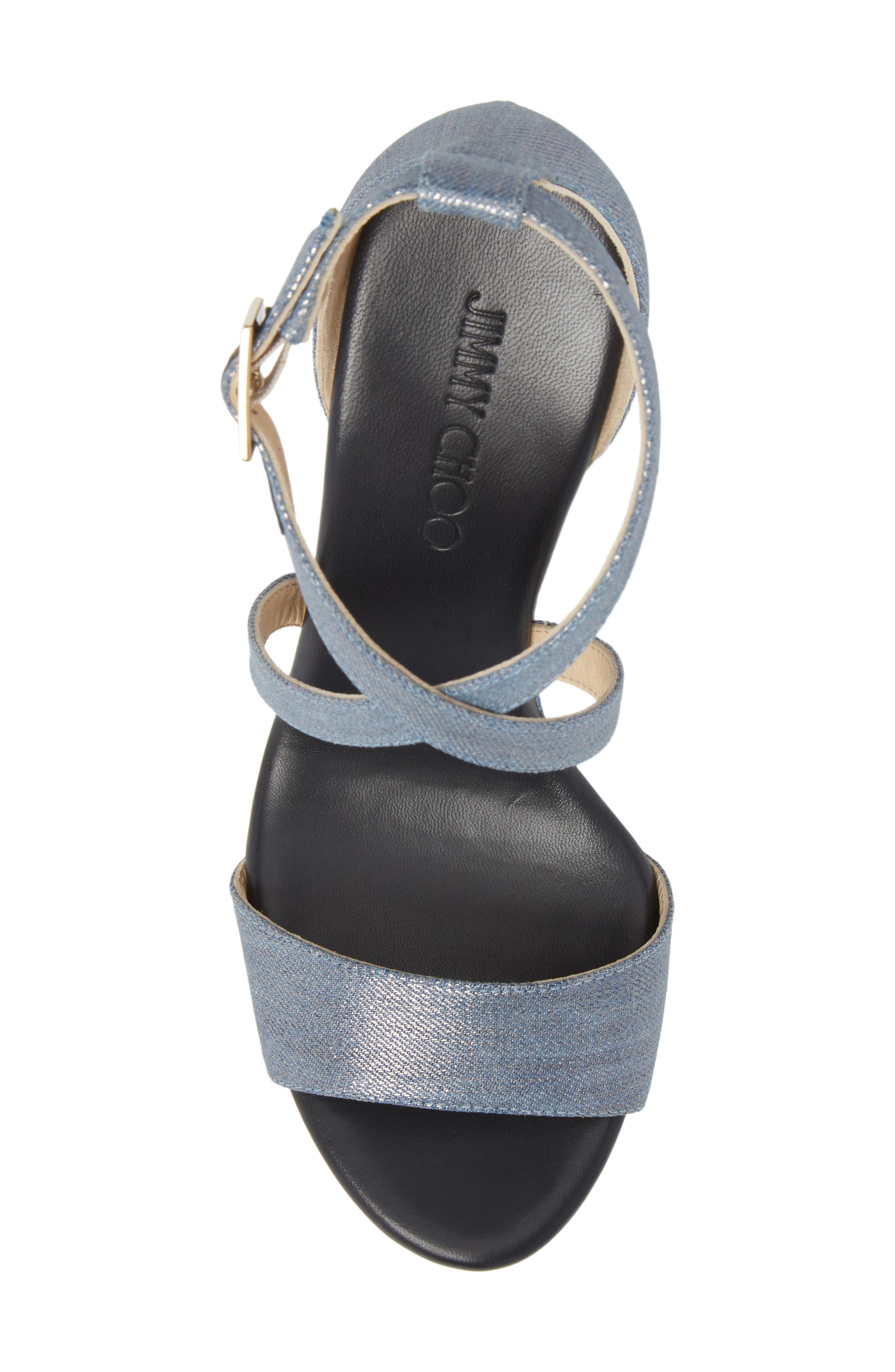 Portia Platform Wedge Sandal,                             Alternate thumbnail 5, color,                             Dusk Blue