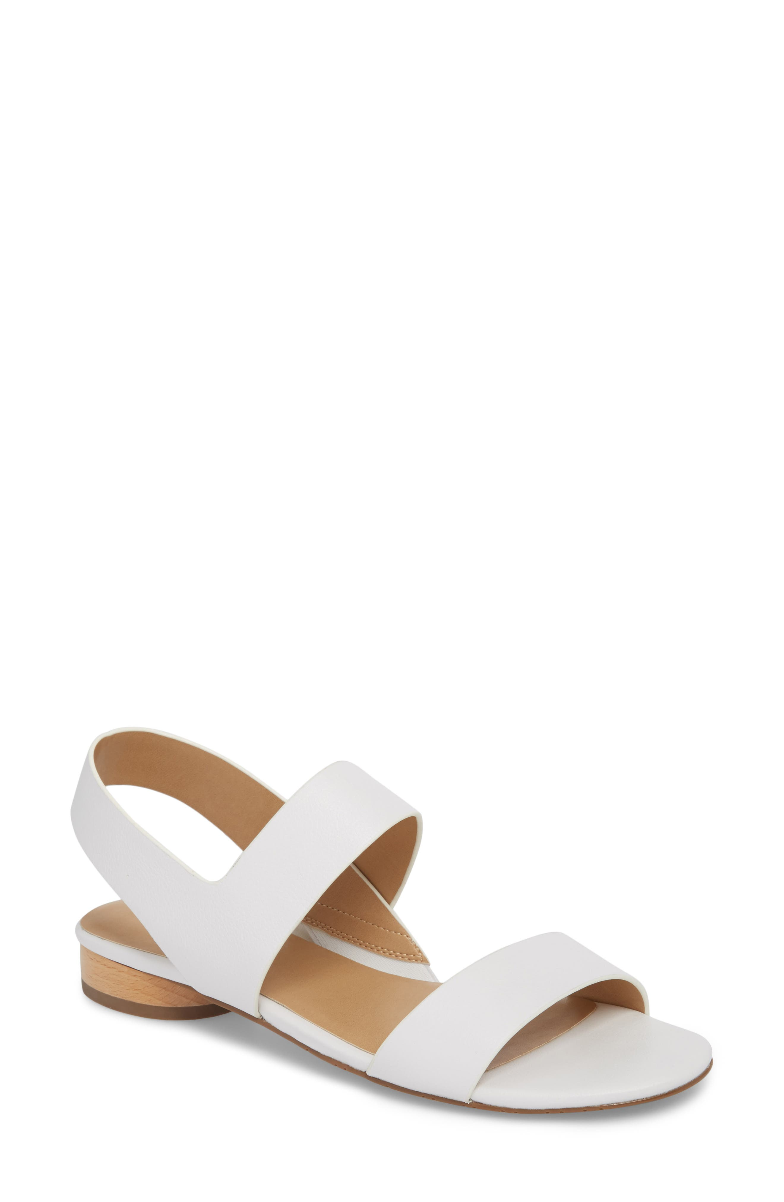 Blanka Sandal,                         Main,                         color, White Leather