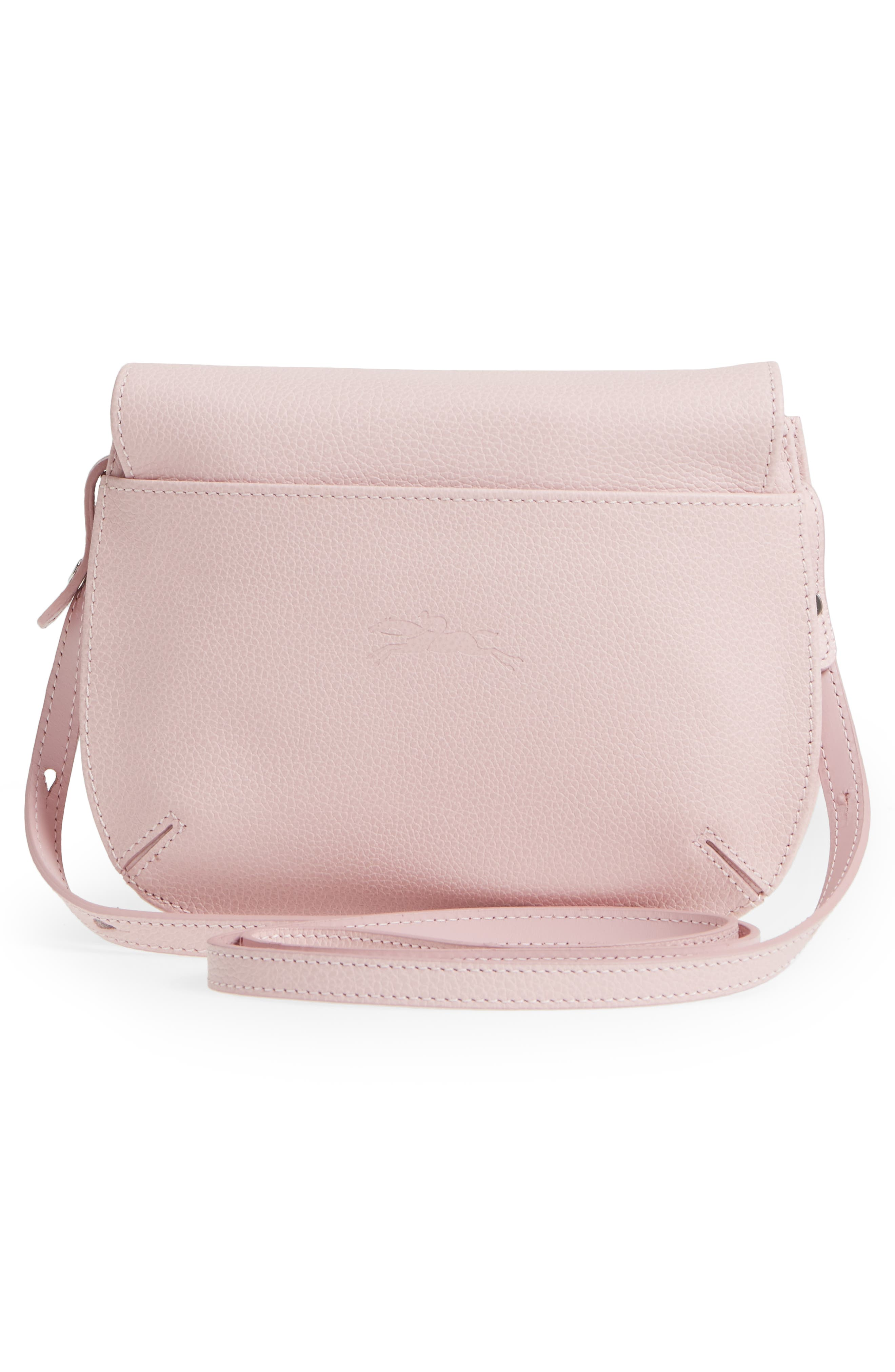 Alternate Image 3  - Longchamp Small Le Foulonne Leather Crossbody Bag