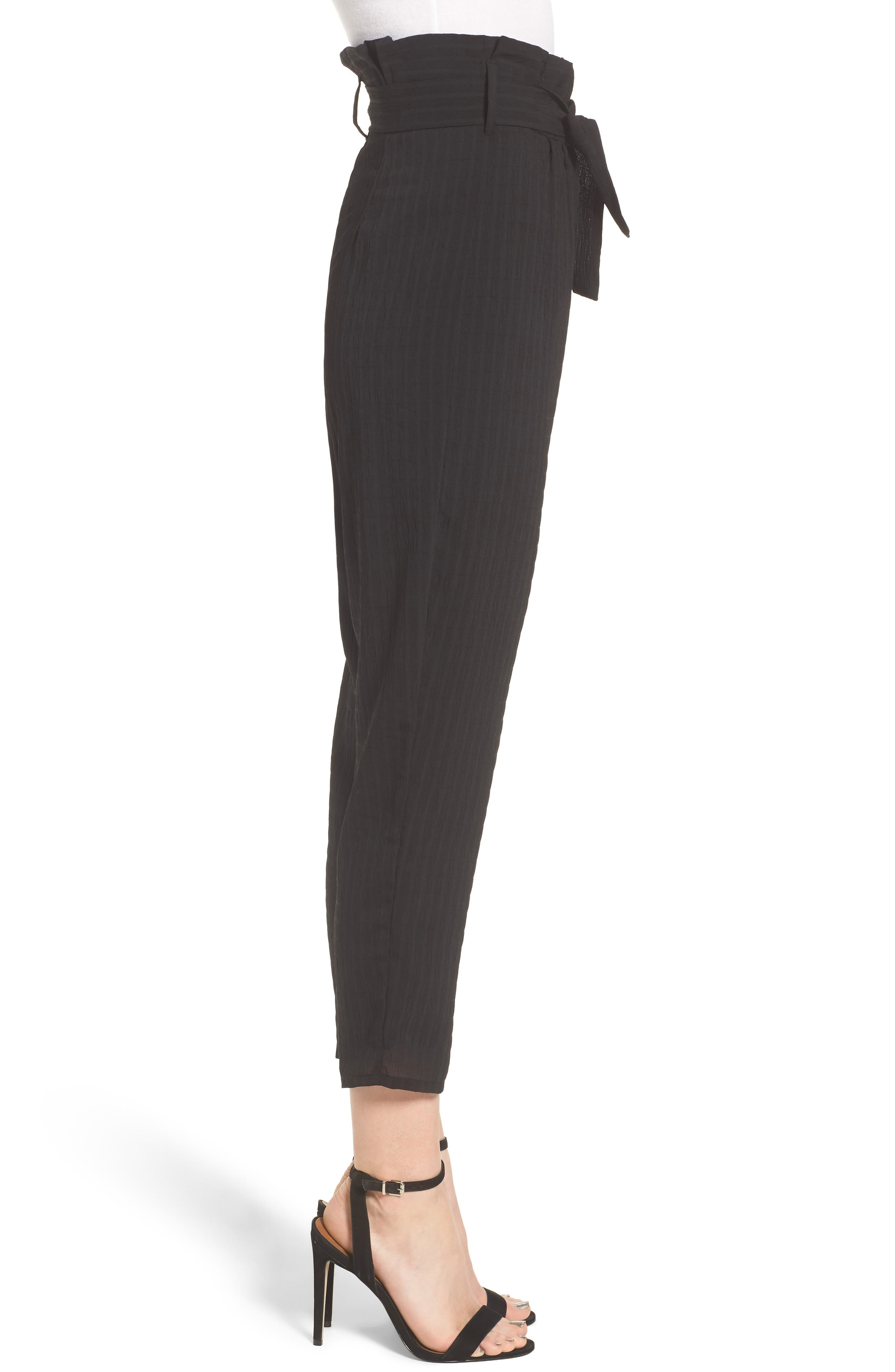Irving High Waist Crop Pants,                             Alternate thumbnail 4, color,                             Night