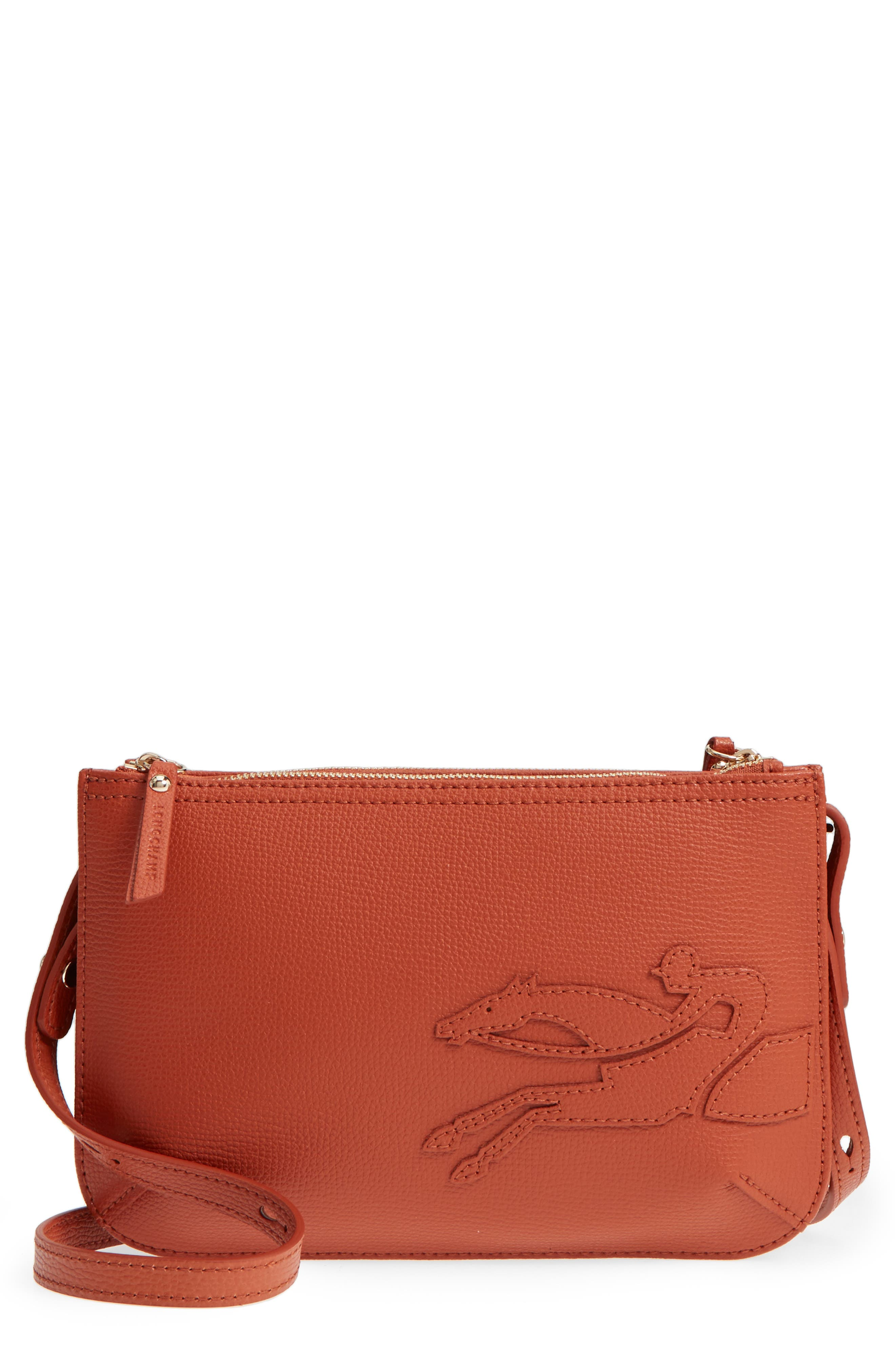 Longchamp Shop-It Leather Crossbody Bag