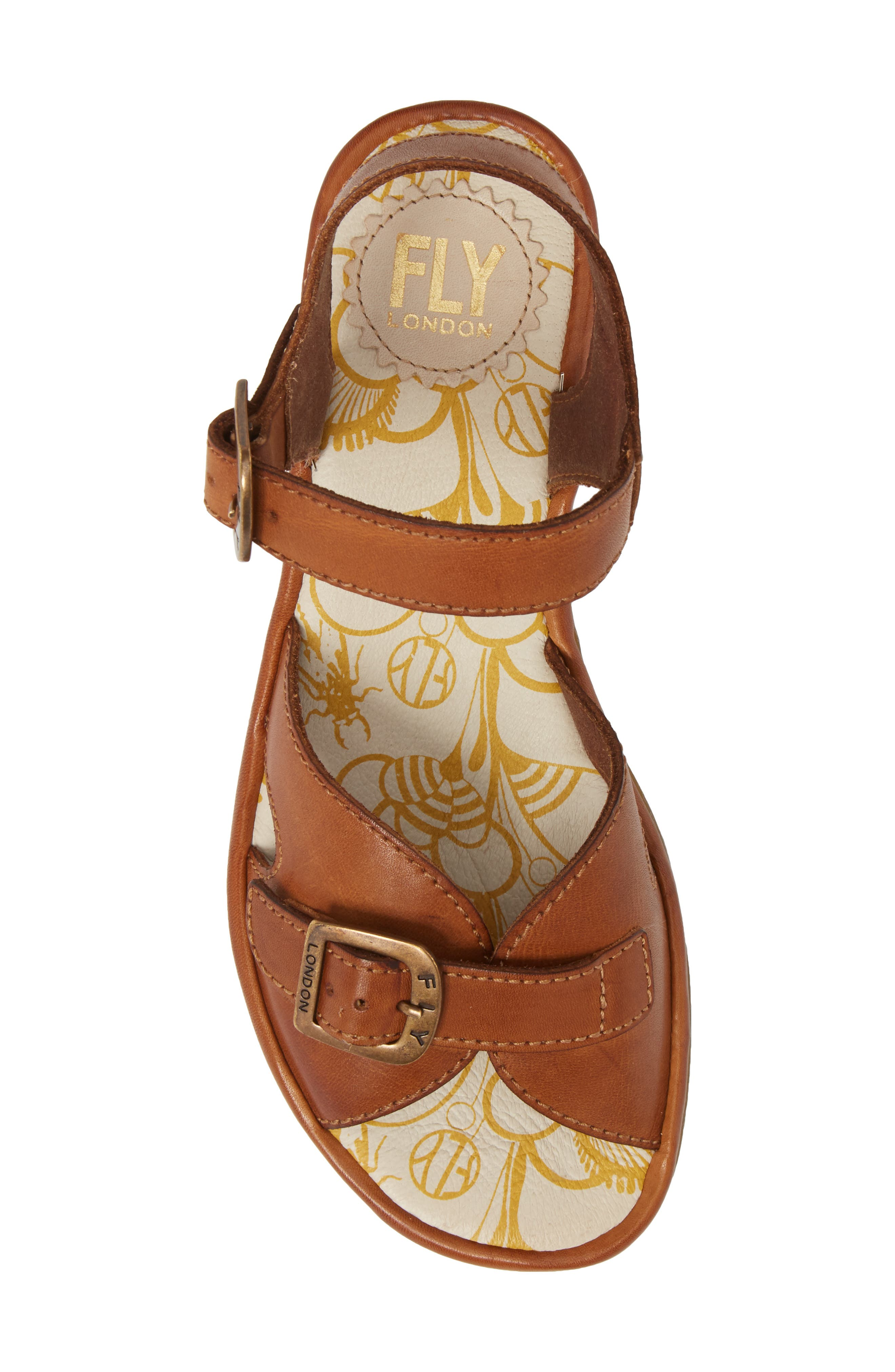 Egal Sandal,                             Alternate thumbnail 5, color,                             Tan Colmar Leather