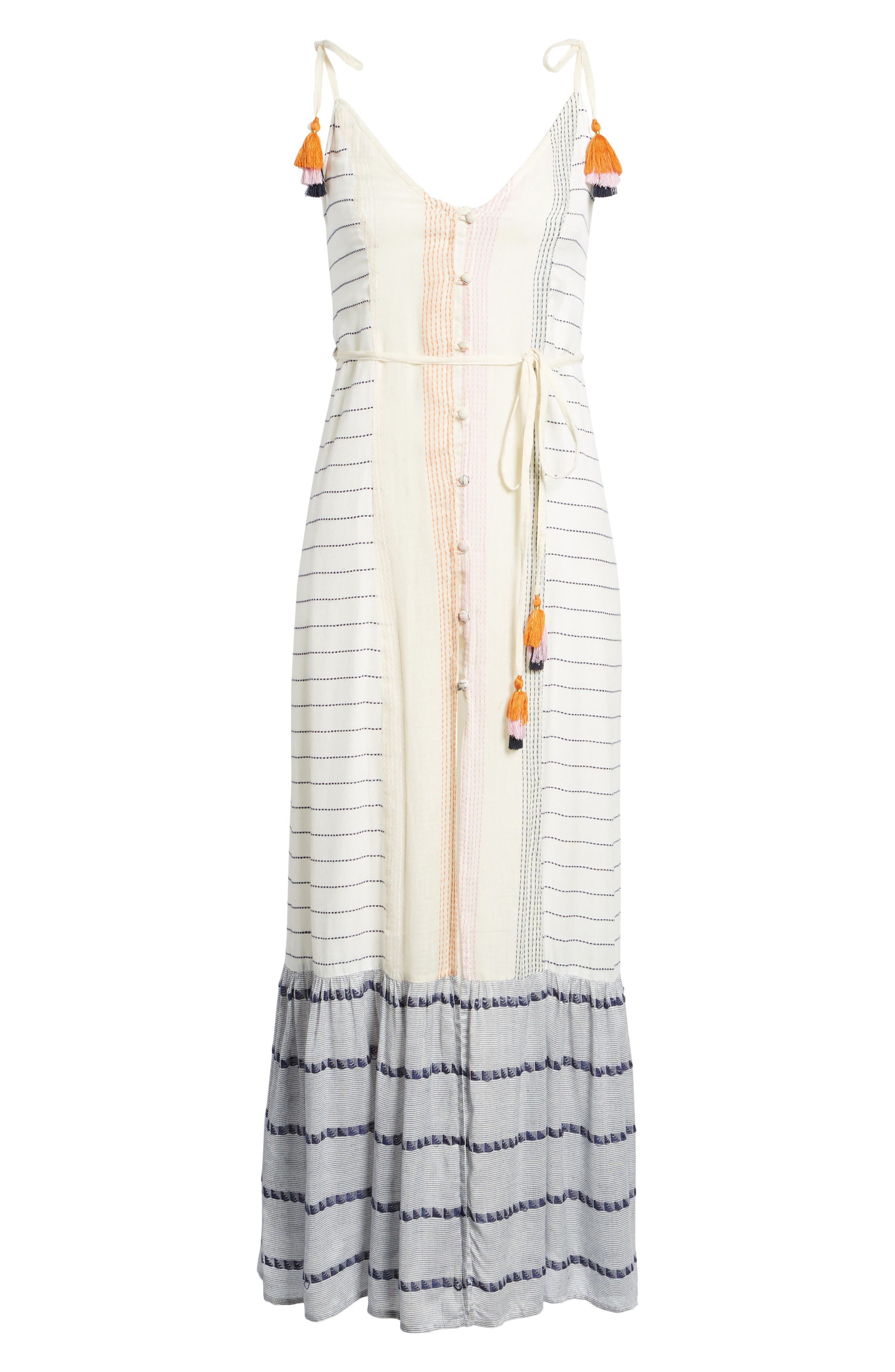 Villa Maxi Dress,                             Alternate thumbnail 6, color,                             Calamar Stripe