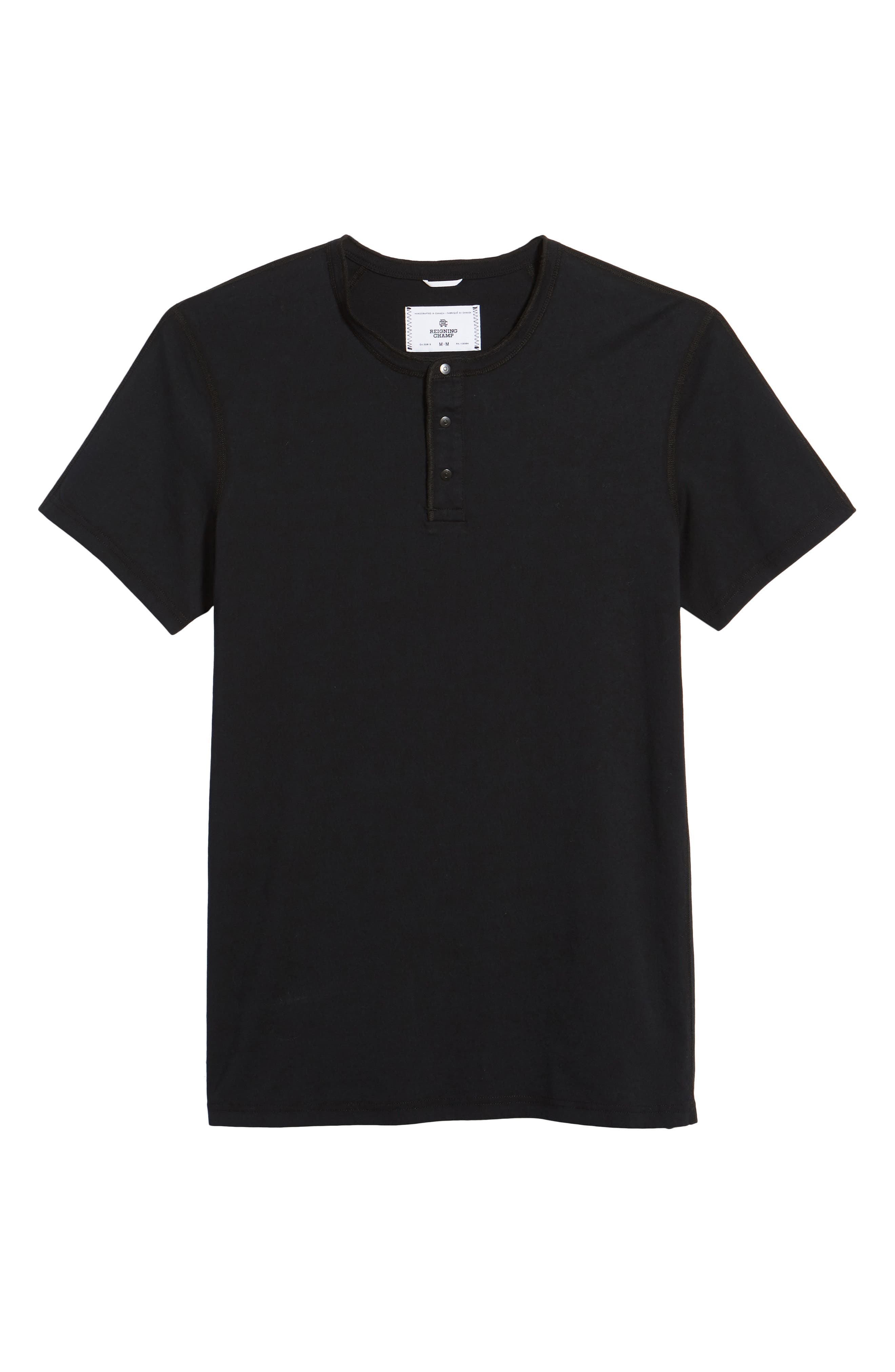 Jersey Henley,                             Alternate thumbnail 6, color,                             Black