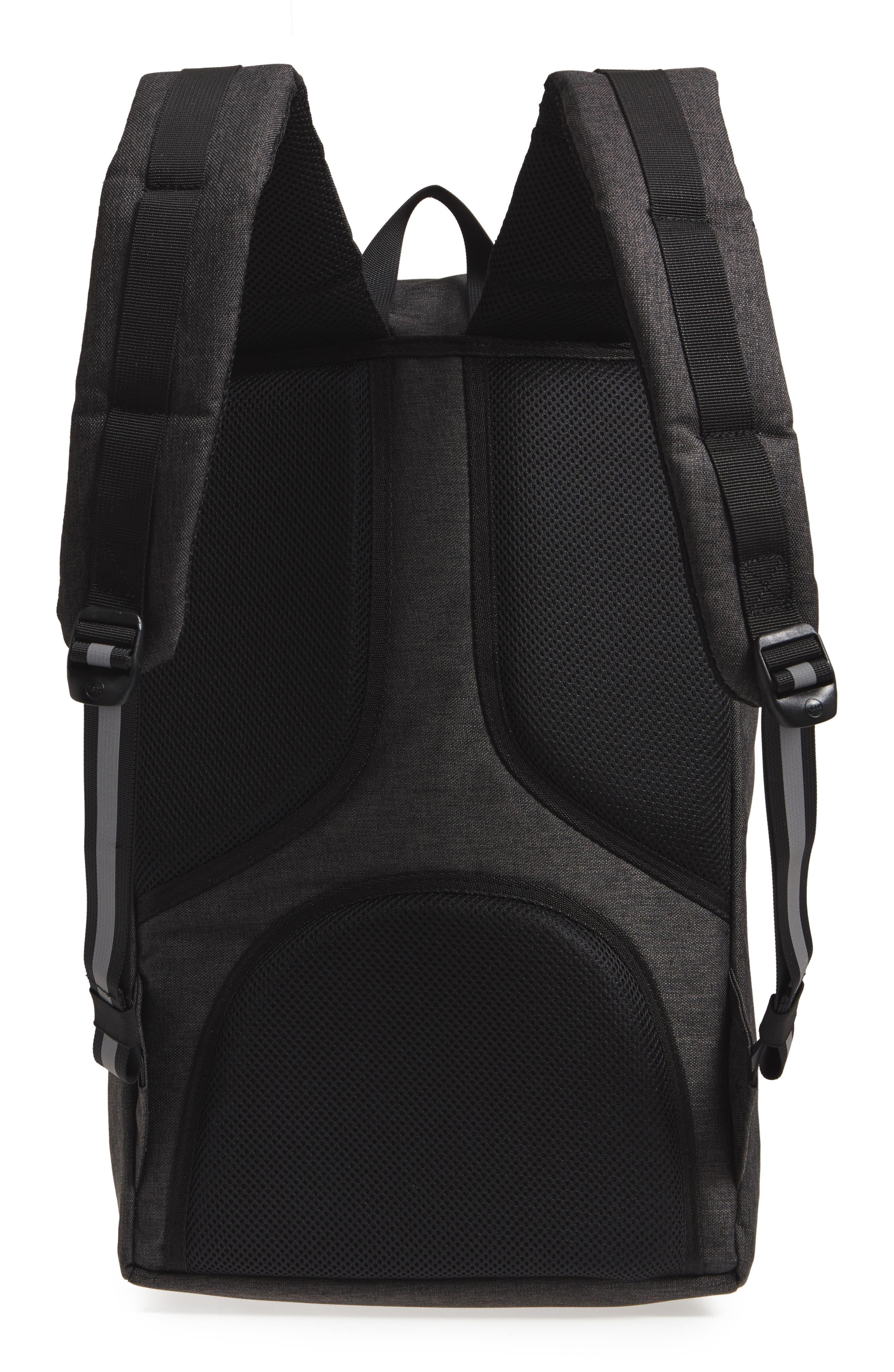 Little America - Reflective Backpack,                             Alternate thumbnail 3, color,                             Black Crosshatch/ Reflective