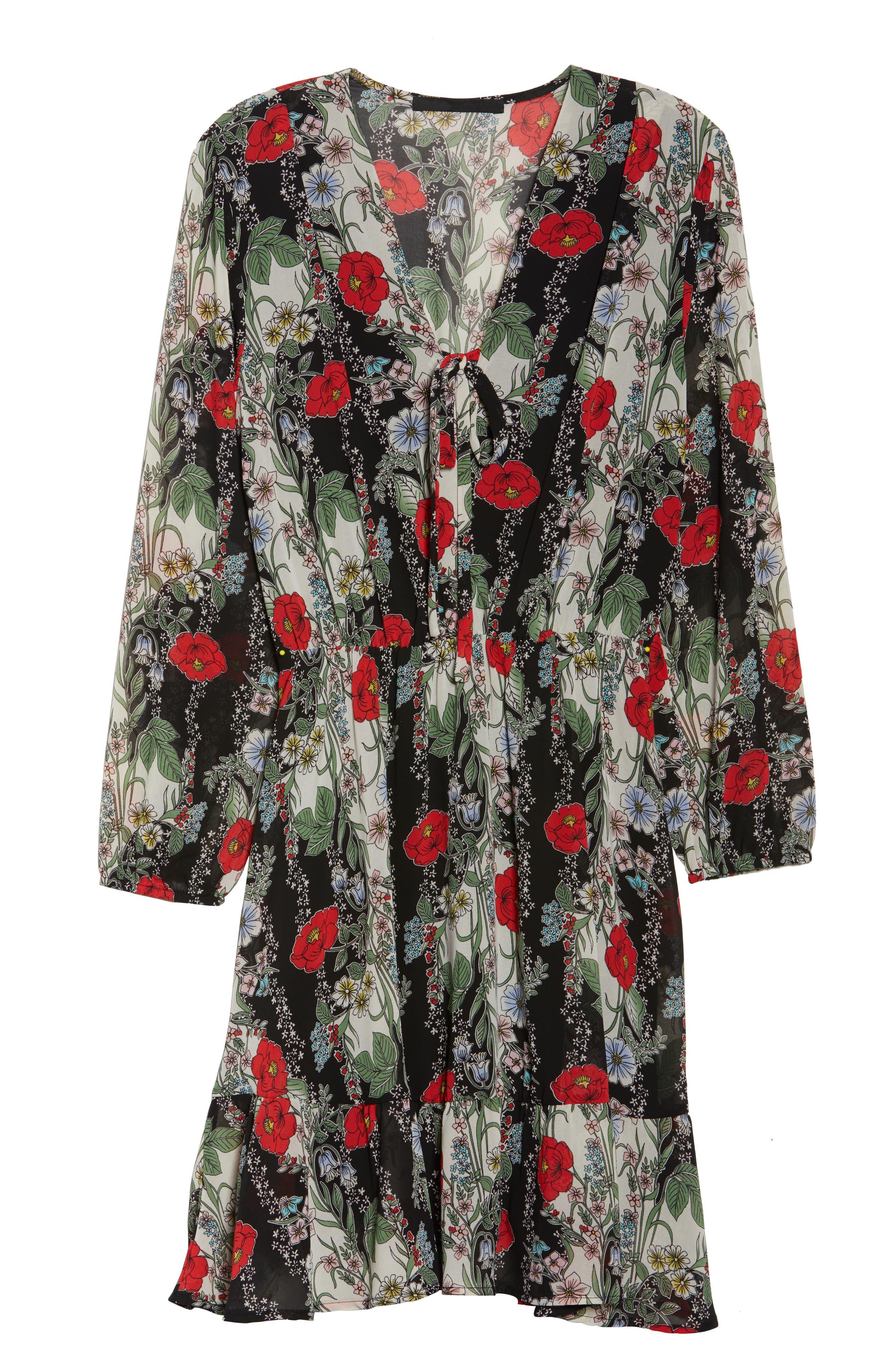 Lidia Tie Front Dress,                             Alternate thumbnail 7, color,                             Lidia