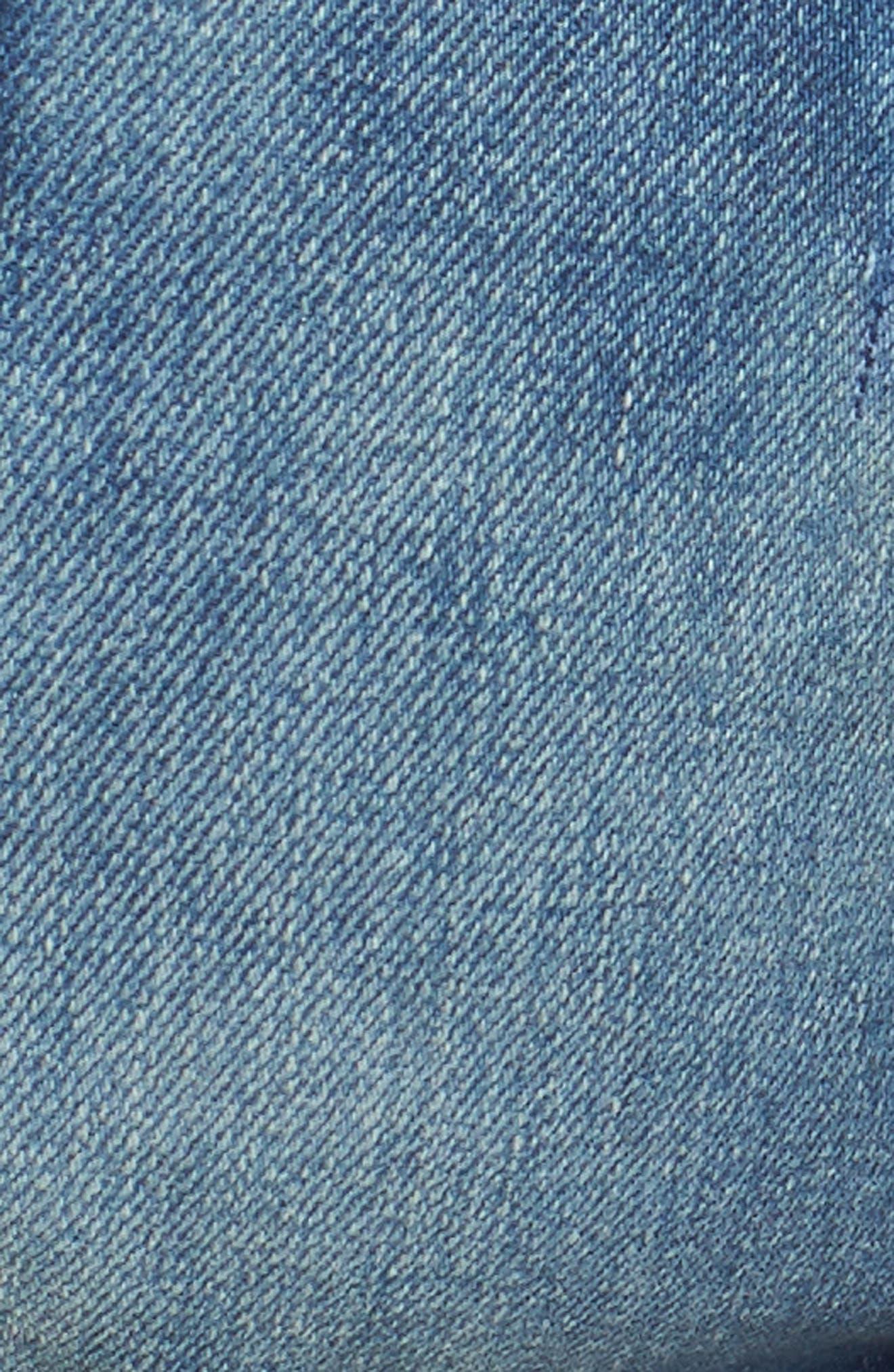 Cuffed Denim Shorts,                             Alternate thumbnail 6, color,                             Florida Light Blue Stretch