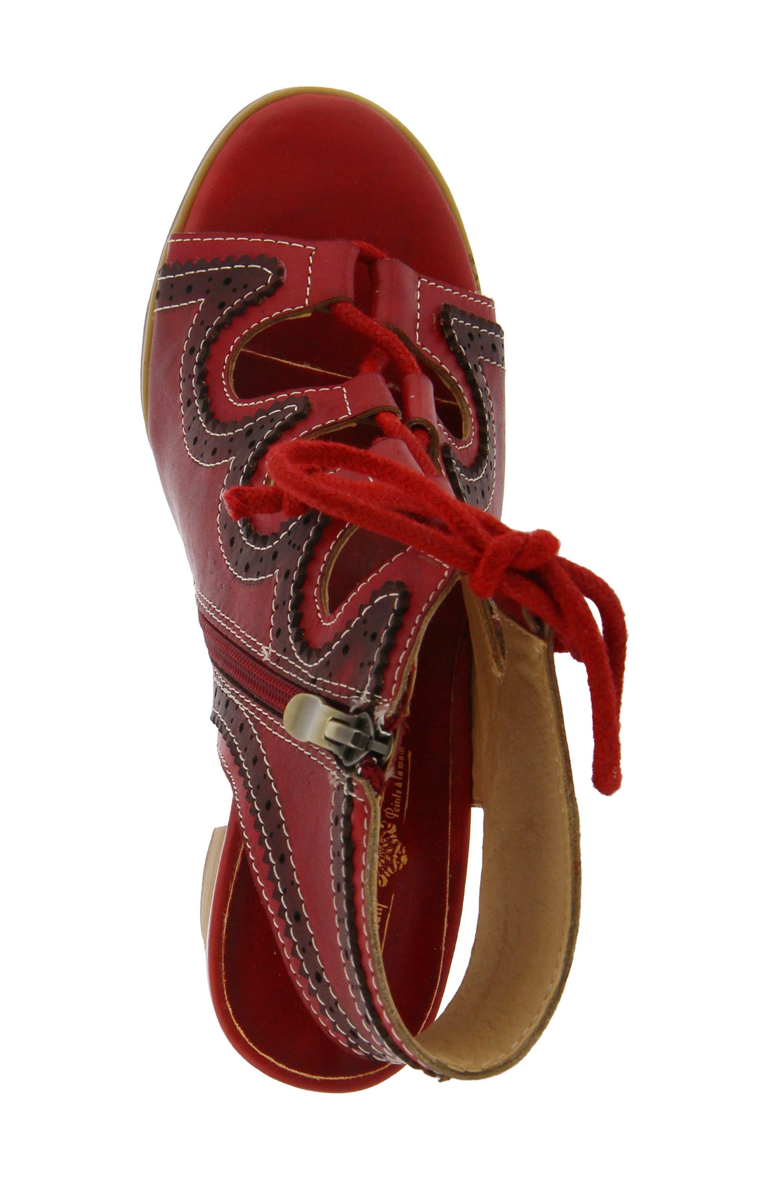 L'Artiste Alejandra Sandal,                             Alternate thumbnail 3, color,                             Red Leather