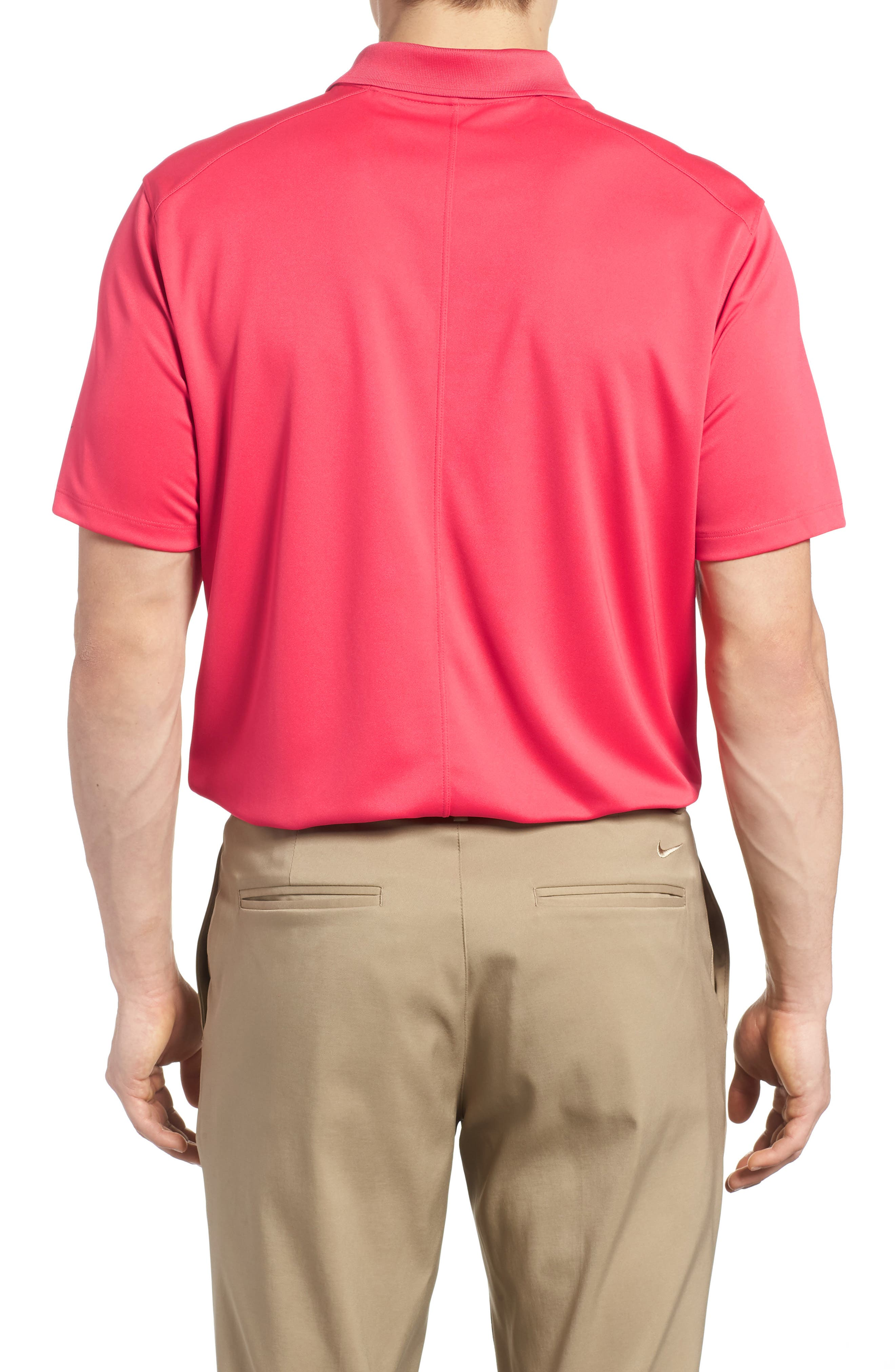 Dry Victory Golf Polo,                             Alternate thumbnail 2, color,                             Tropical Pink/ Black