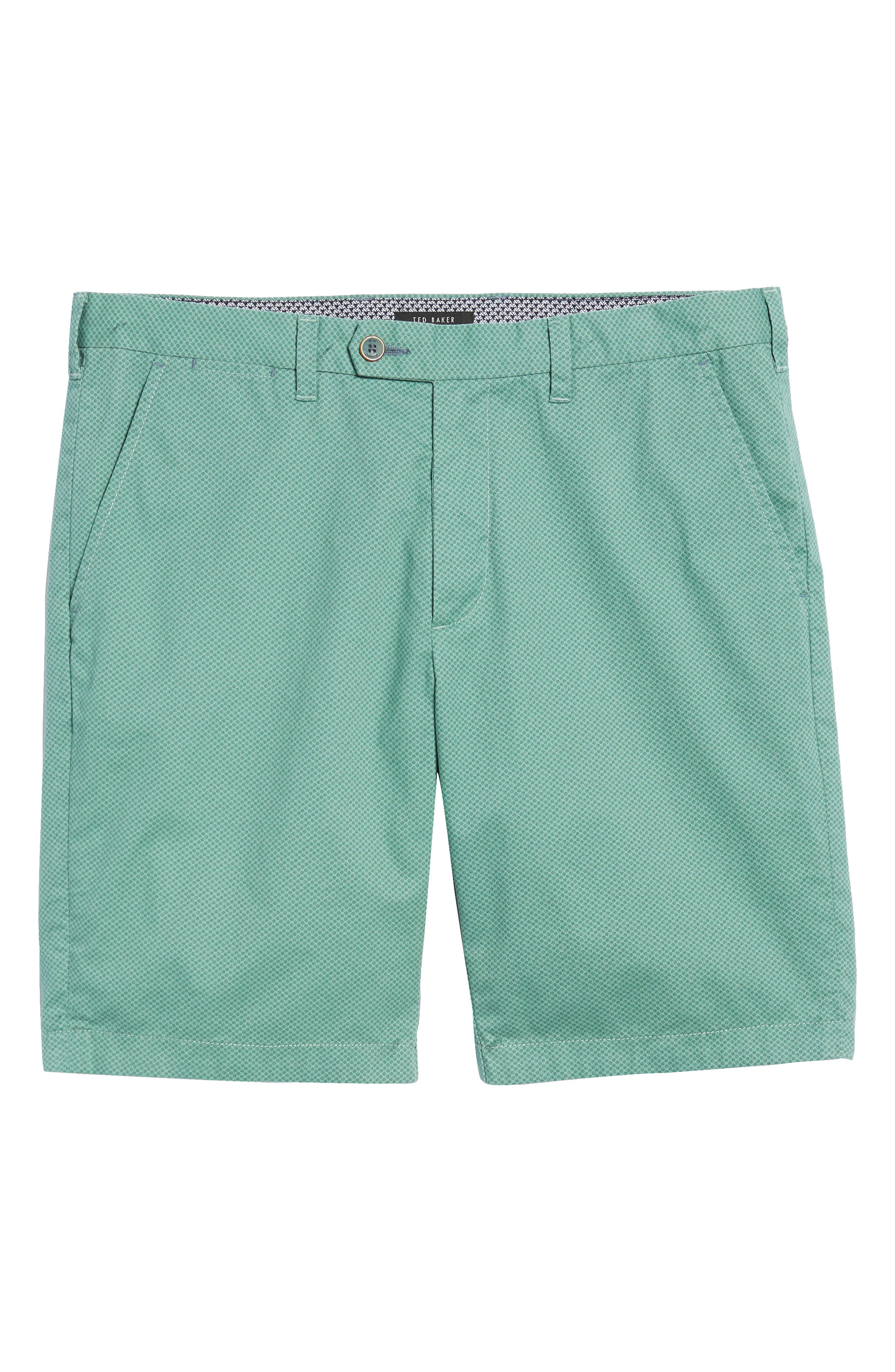 Print Cotton Shorts,                             Alternate thumbnail 6, color,                             Green