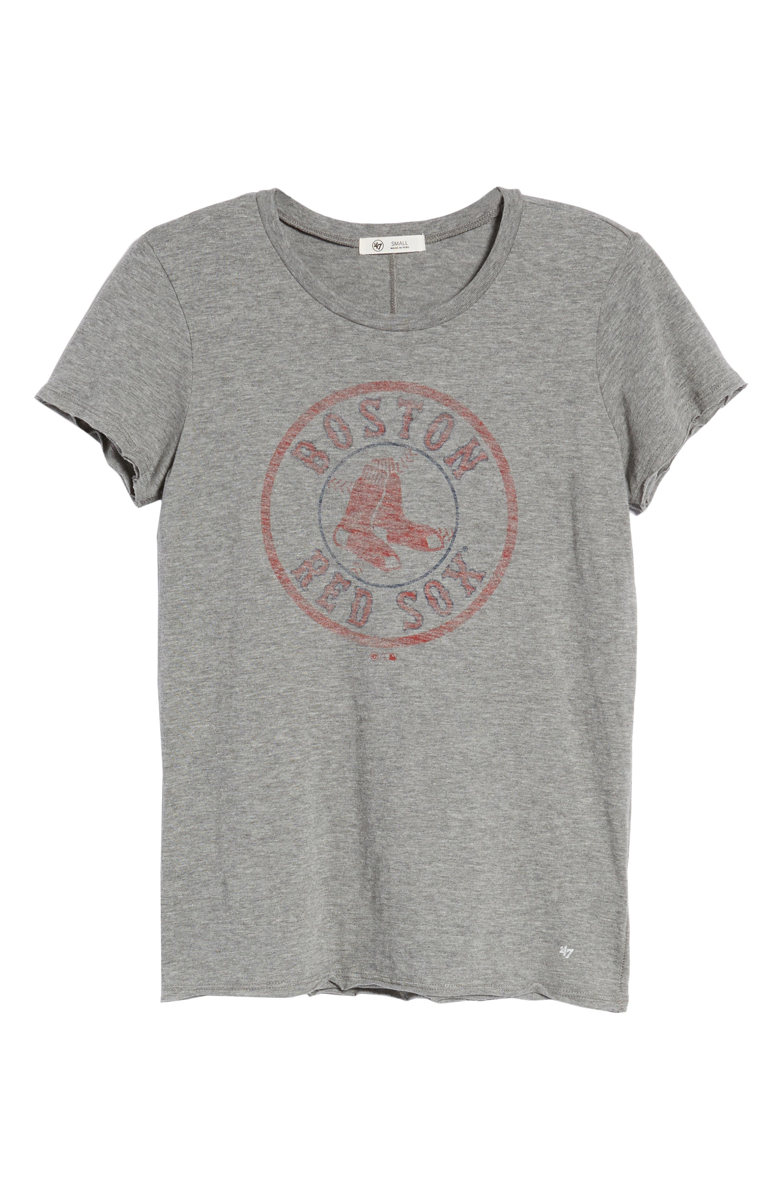 Boston Red Sox Fader Letter Tee,                             Alternate thumbnail 7, color,                             Slate Grey