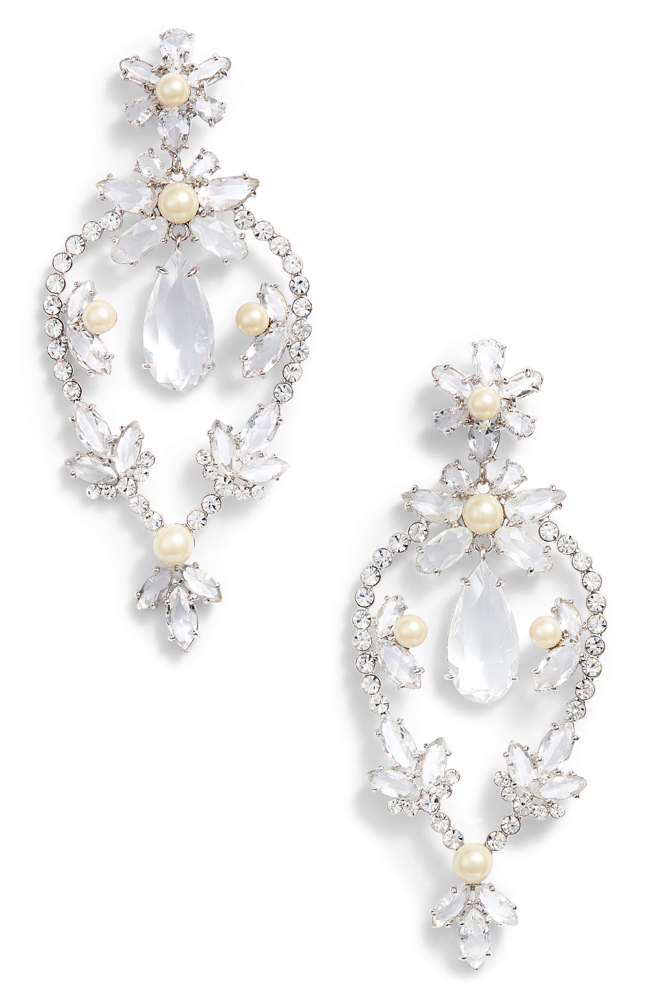kate spade new york floral statement drop earrings