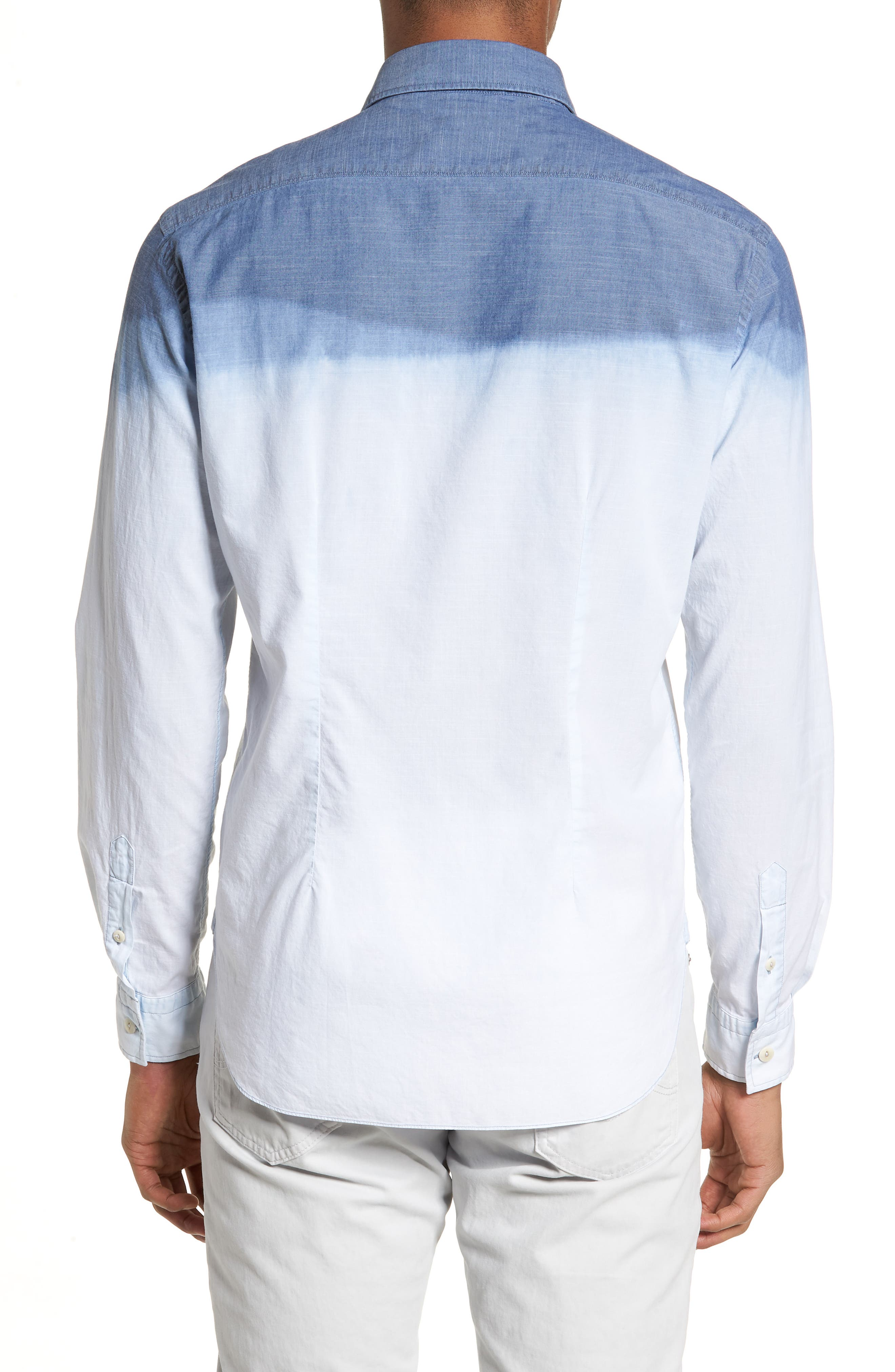 Alternate Image 2  - Culturata Tailored Fit Dégradé Sport Shirt