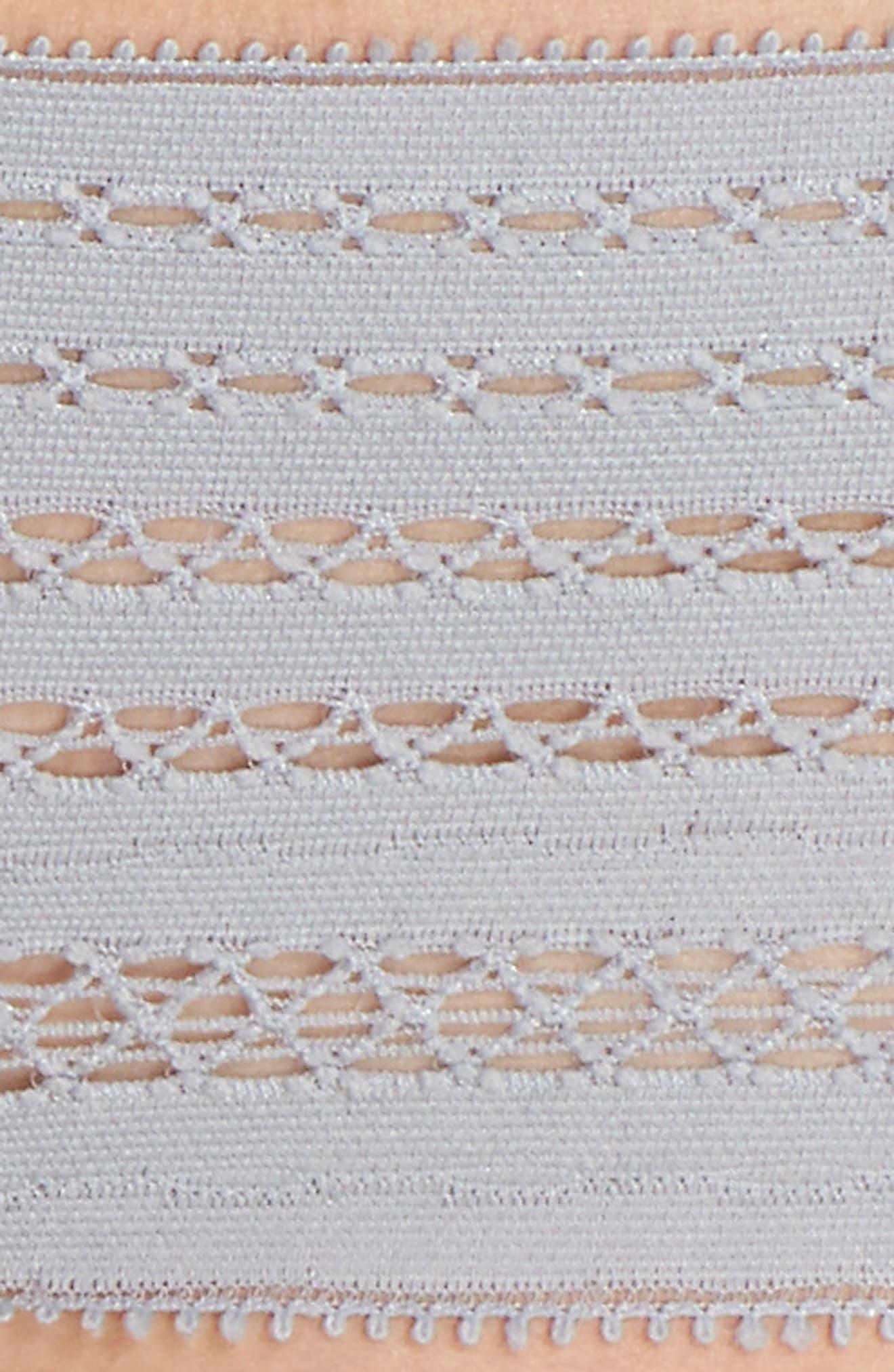 Lace Thong,                             Alternate thumbnail 6, color,                             Mid Grey