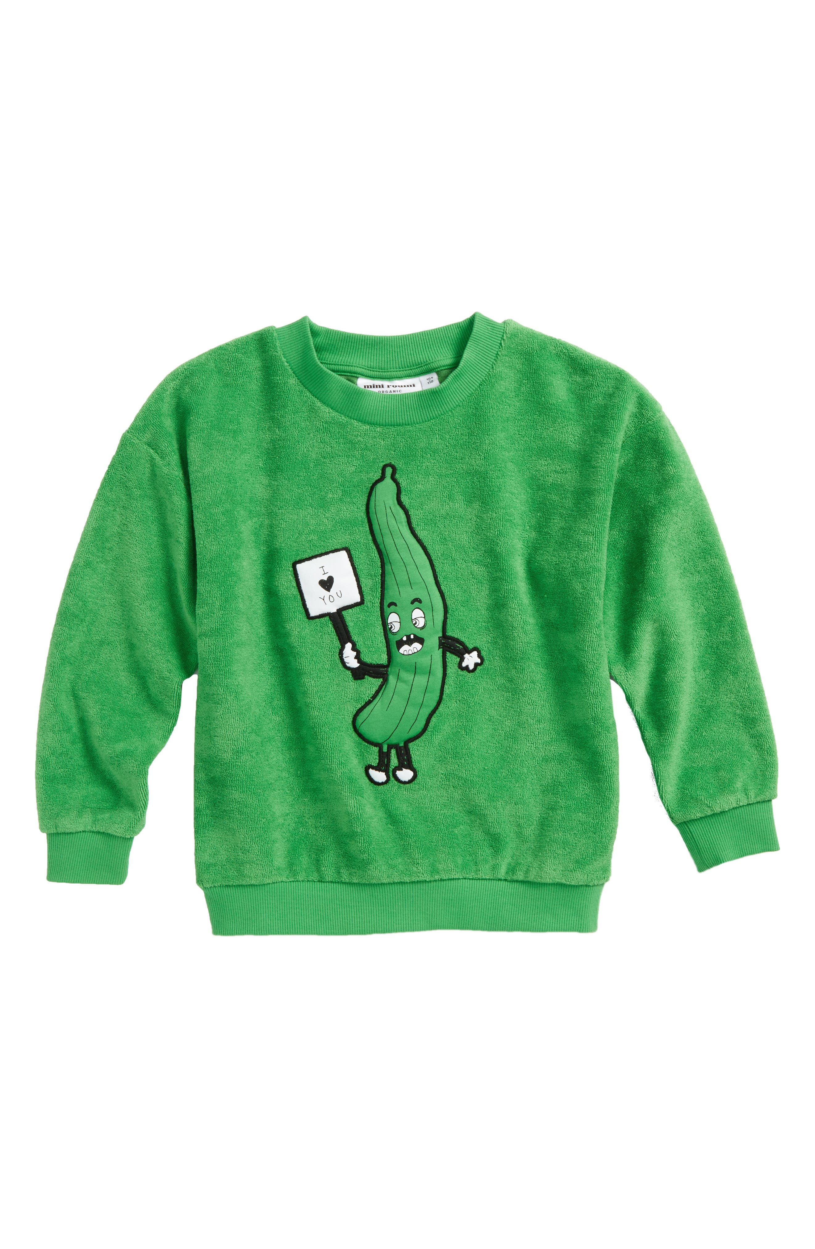 Cucumber Terry Sweatshirt,                             Main thumbnail 1, color,                             Green