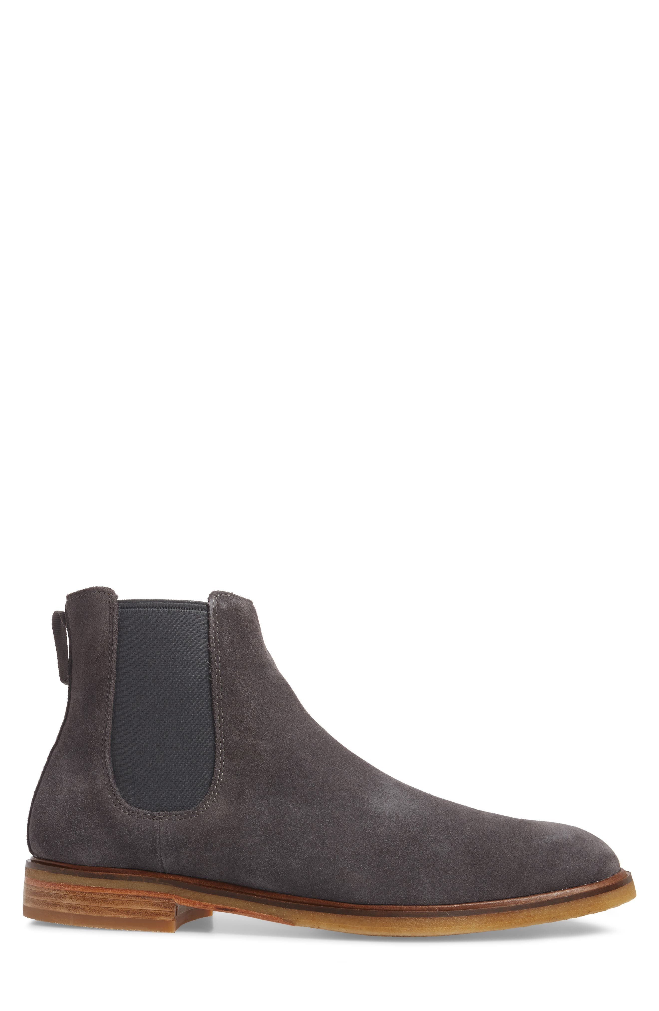 Clarkdale Chelsea Boot,                             Alternate thumbnail 3, color,                             Grey Suede