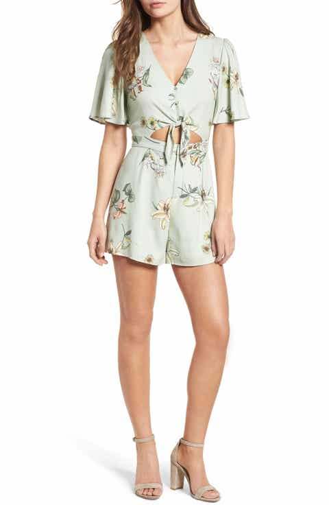One Clothing Tie Front Romper