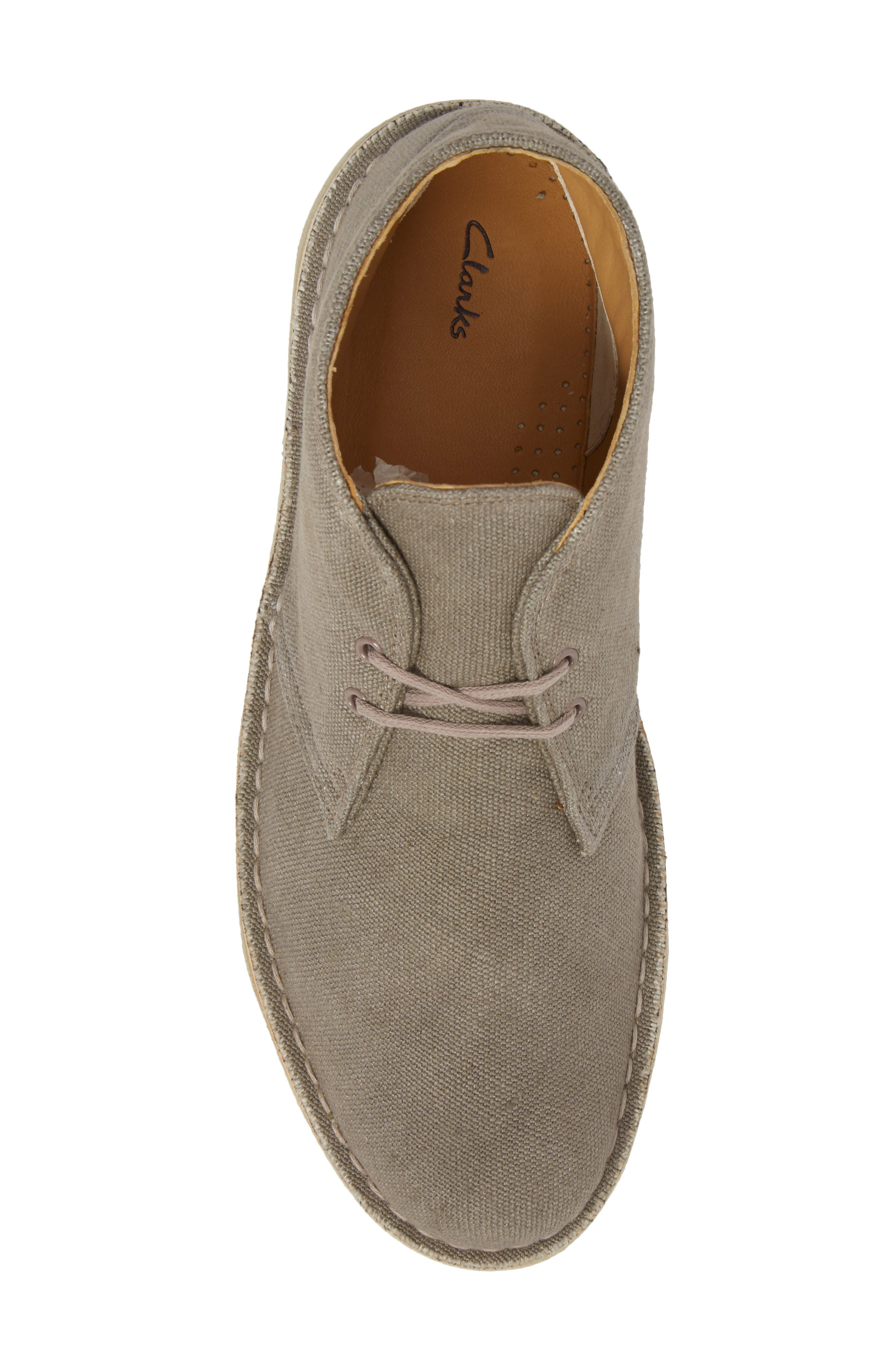 Clarks<sup>®</sup> Desert Chukka Boot,                             Alternate thumbnail 5, color,                             Taupe Canvas