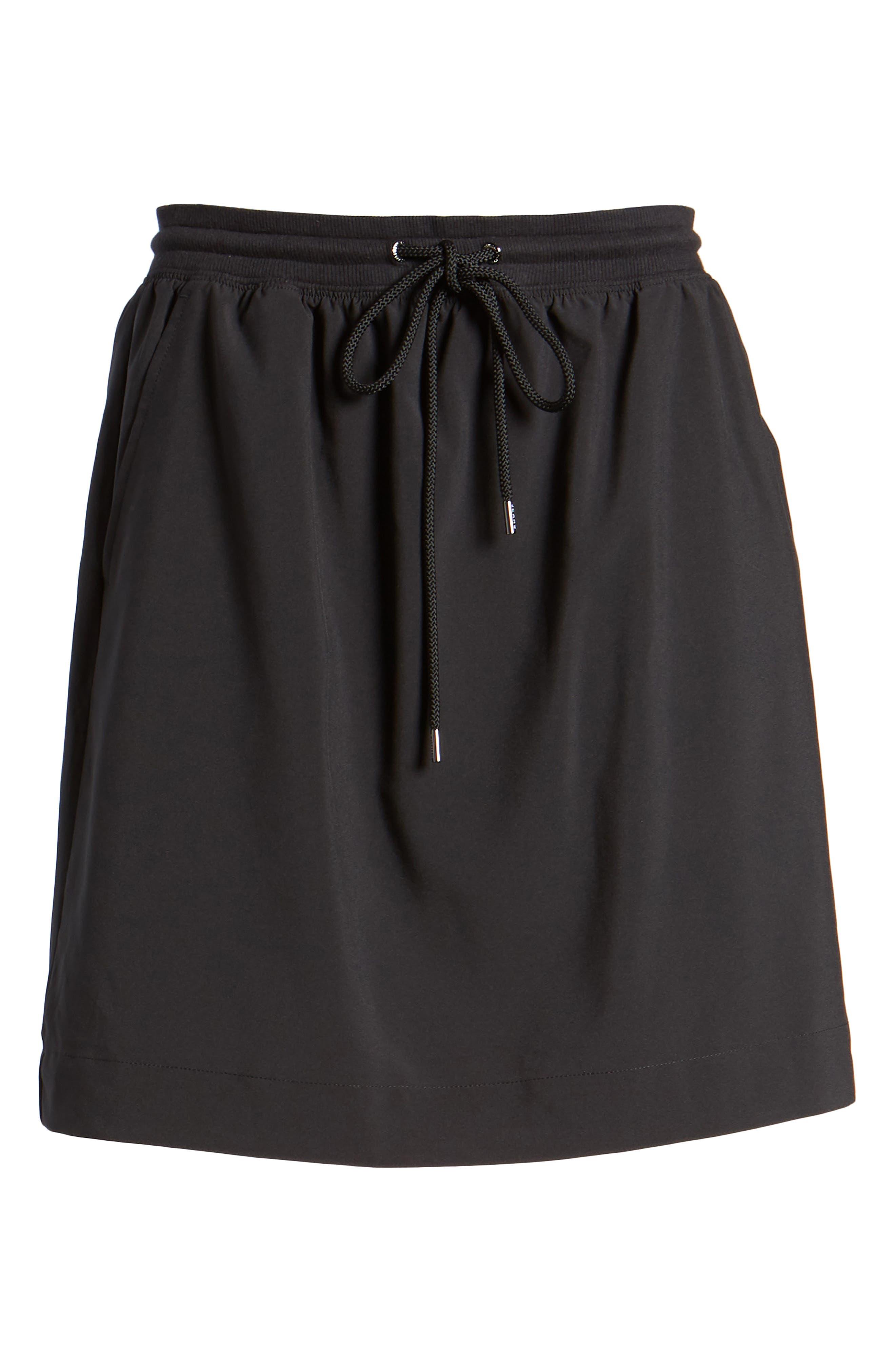 Logo Waistband Skirt,                             Alternate thumbnail 6, color,                             Tommy Black