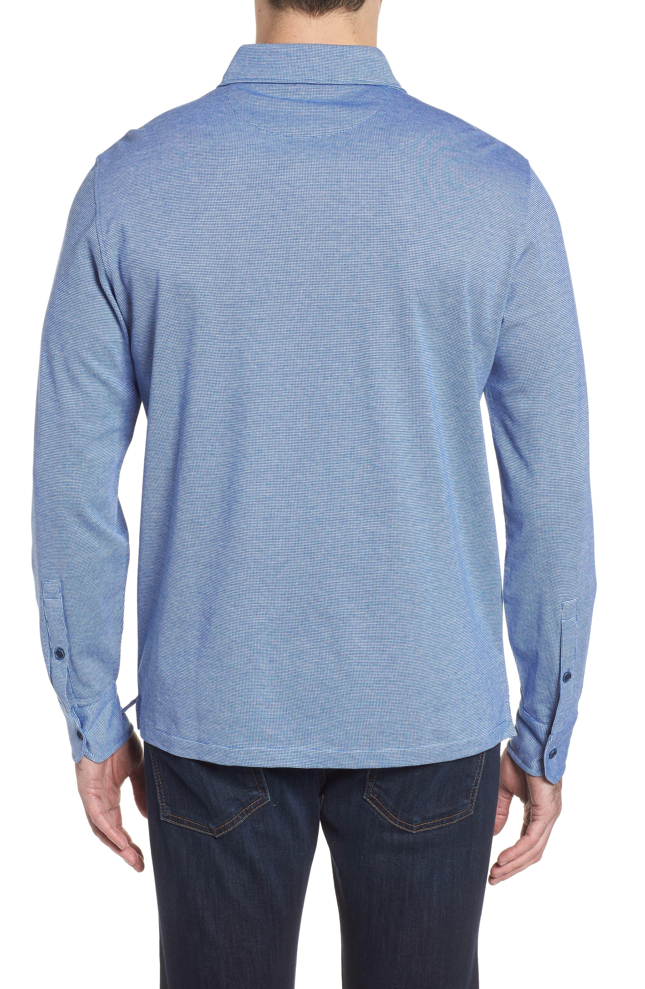 Regular Fit Piqué Cotton Sport Shirt,                             Alternate thumbnail 2, color,                             Navy