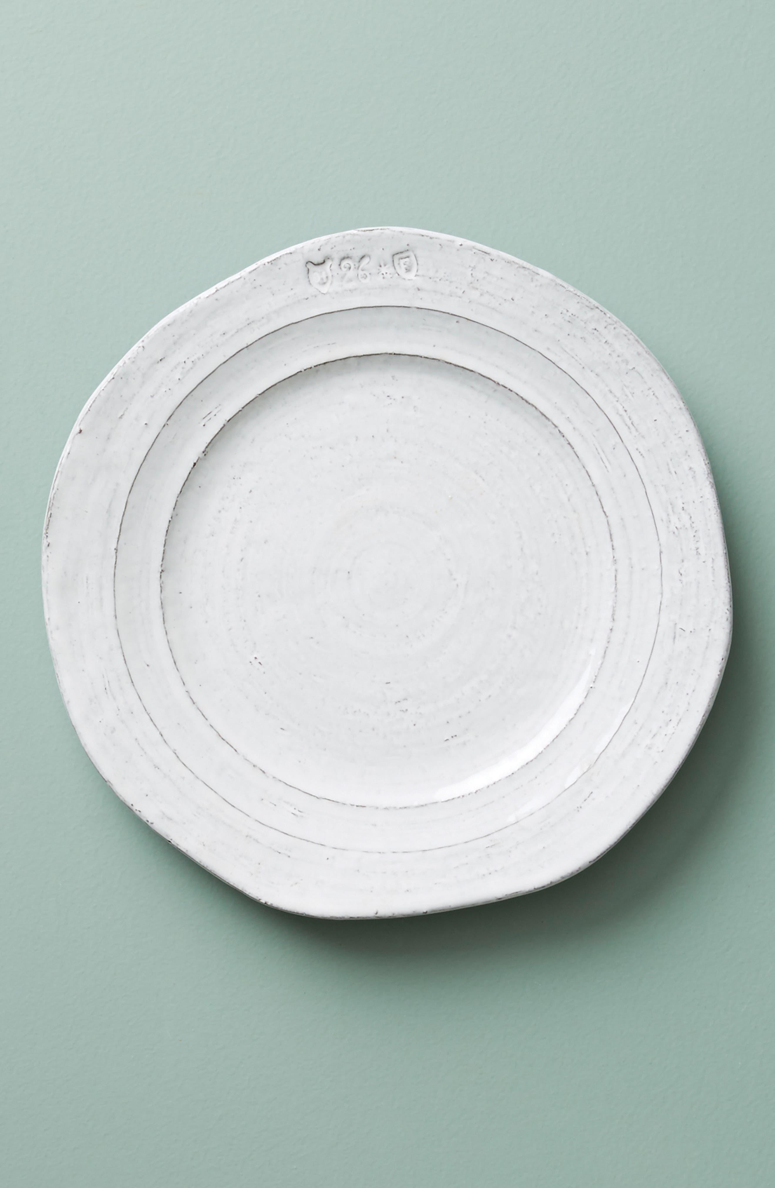 Glenna Side Plate,                             Main thumbnail 1, color,                             White