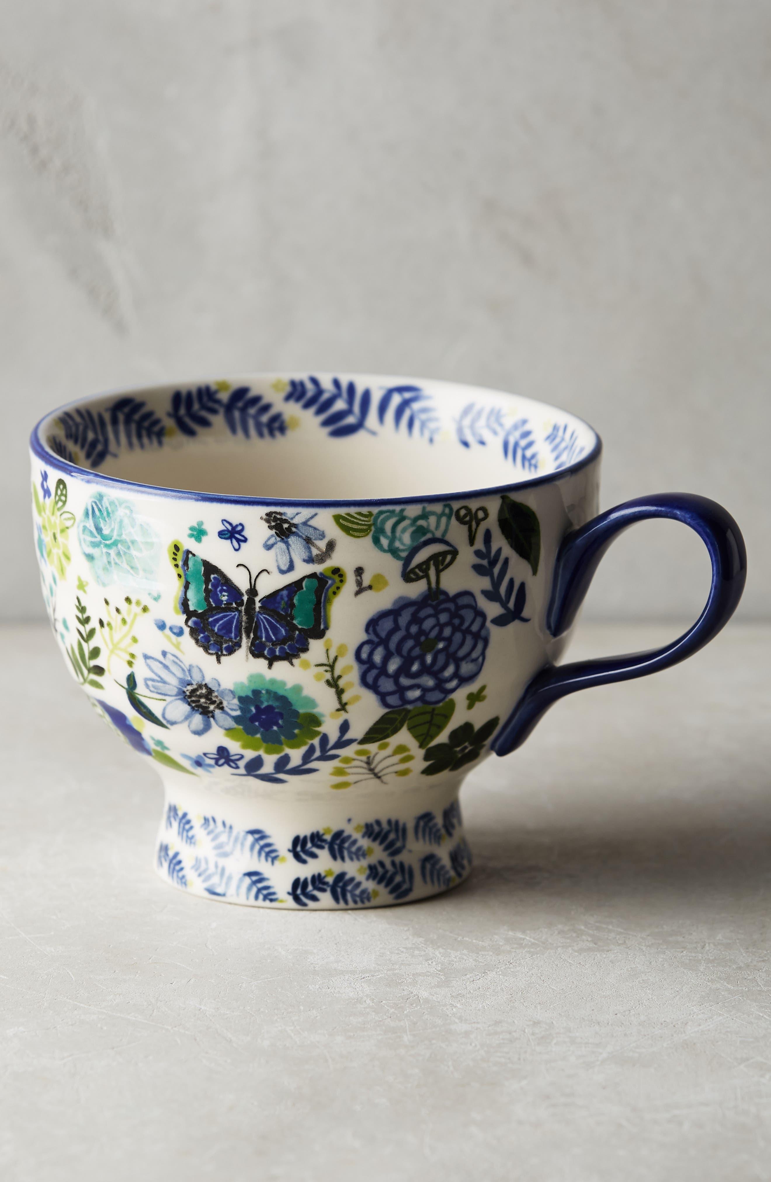 Anthropologie Wing & Petal Stoneware Mug