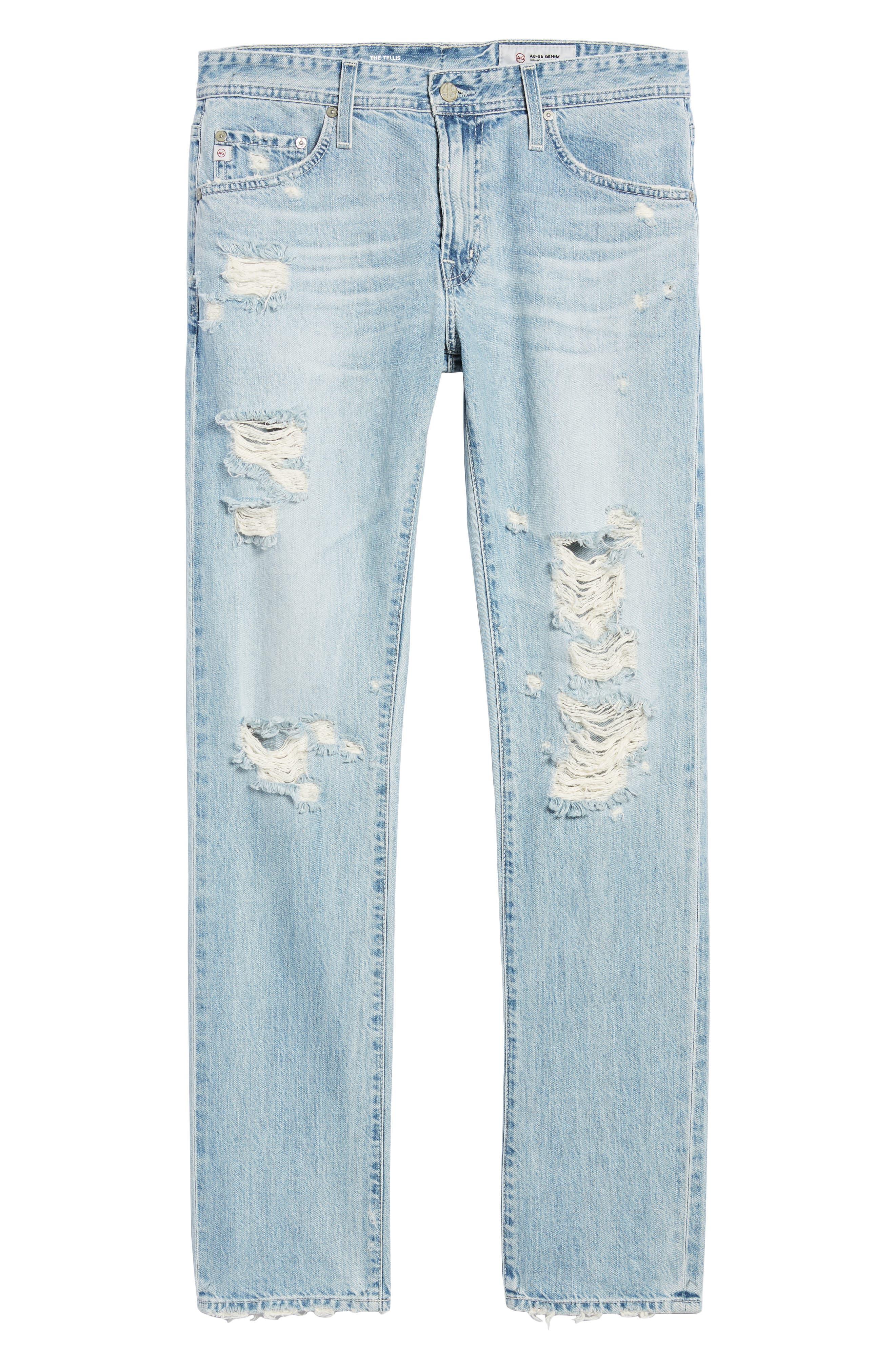 Tellis Slim Fit Jeans,                             Alternate thumbnail 5, color,                             23 Years Seafarer