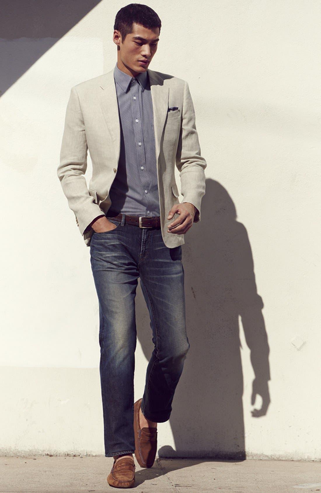 Alternate Image 5  - J Brand 'Kane' Slim Straight Leg Jeans (Bronson)