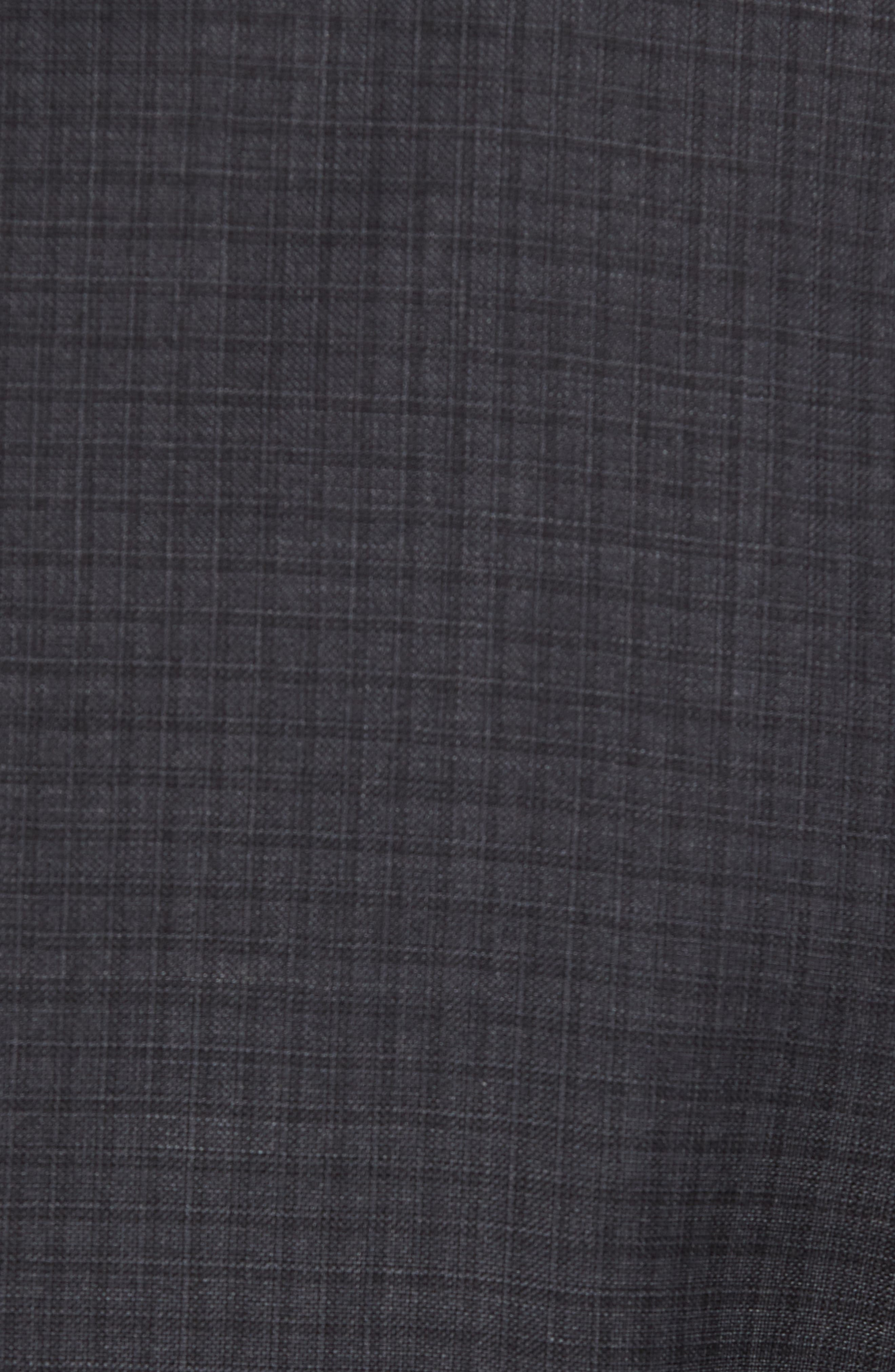 Jay Trim Fit Check Wool Suit,                             Alternate thumbnail 7, color,                             Charcoal