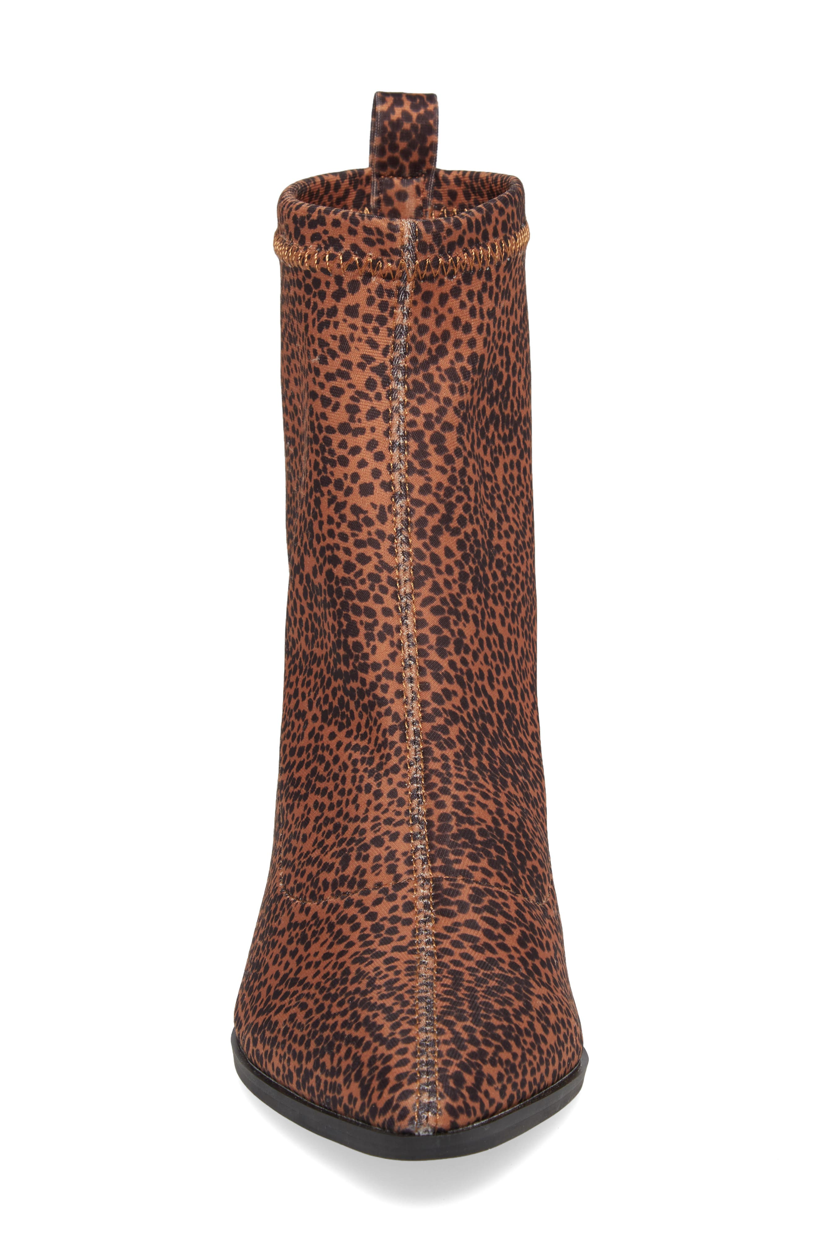 Amuse Society x Matisse Liliana Sock Bootie,                             Alternate thumbnail 4, color,                             Brown Stretch Fabric