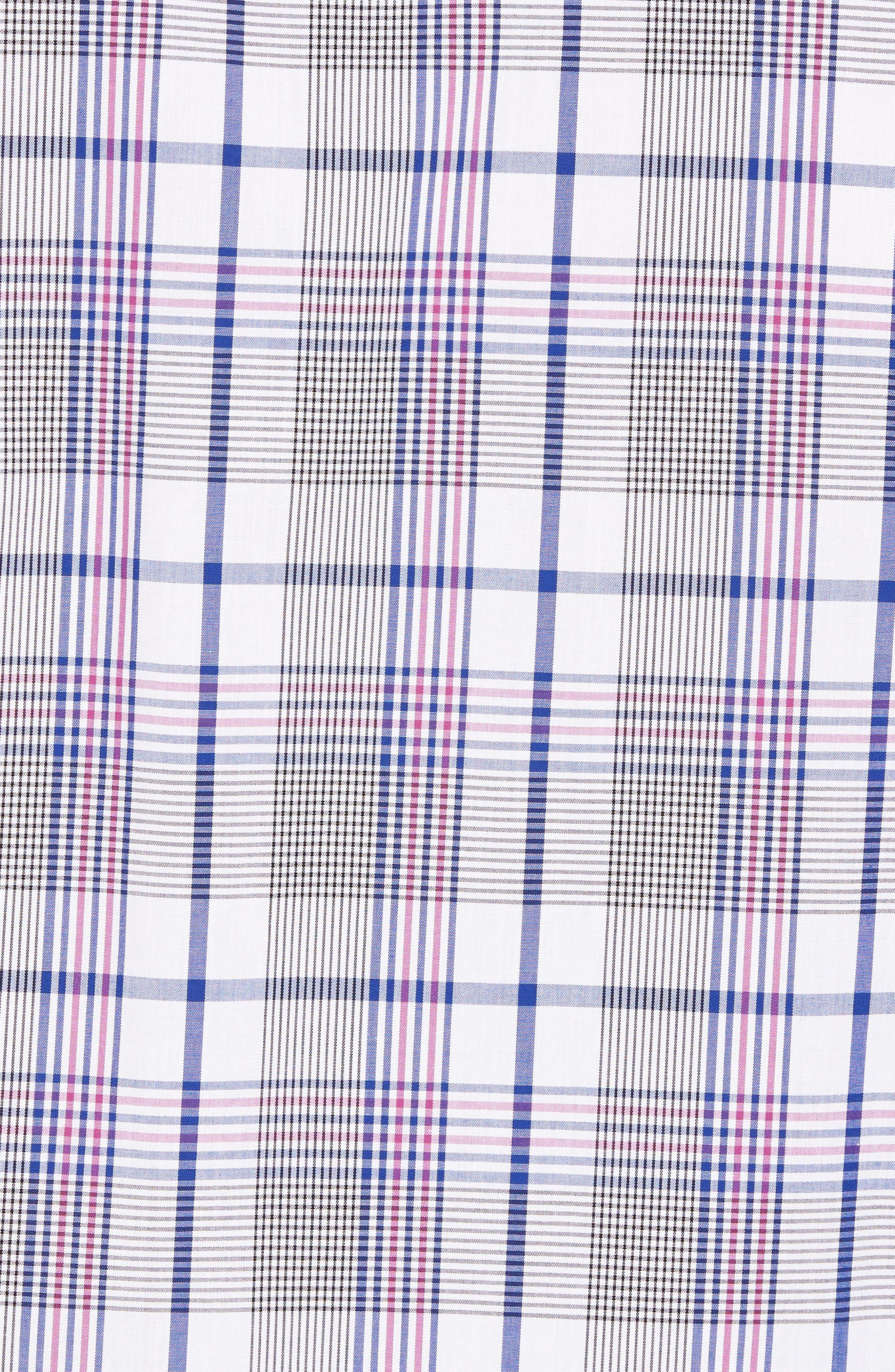 Aidan Non-Iron Plaid Sport Shirt,                             Alternate thumbnail 5, color,                             Bolt
