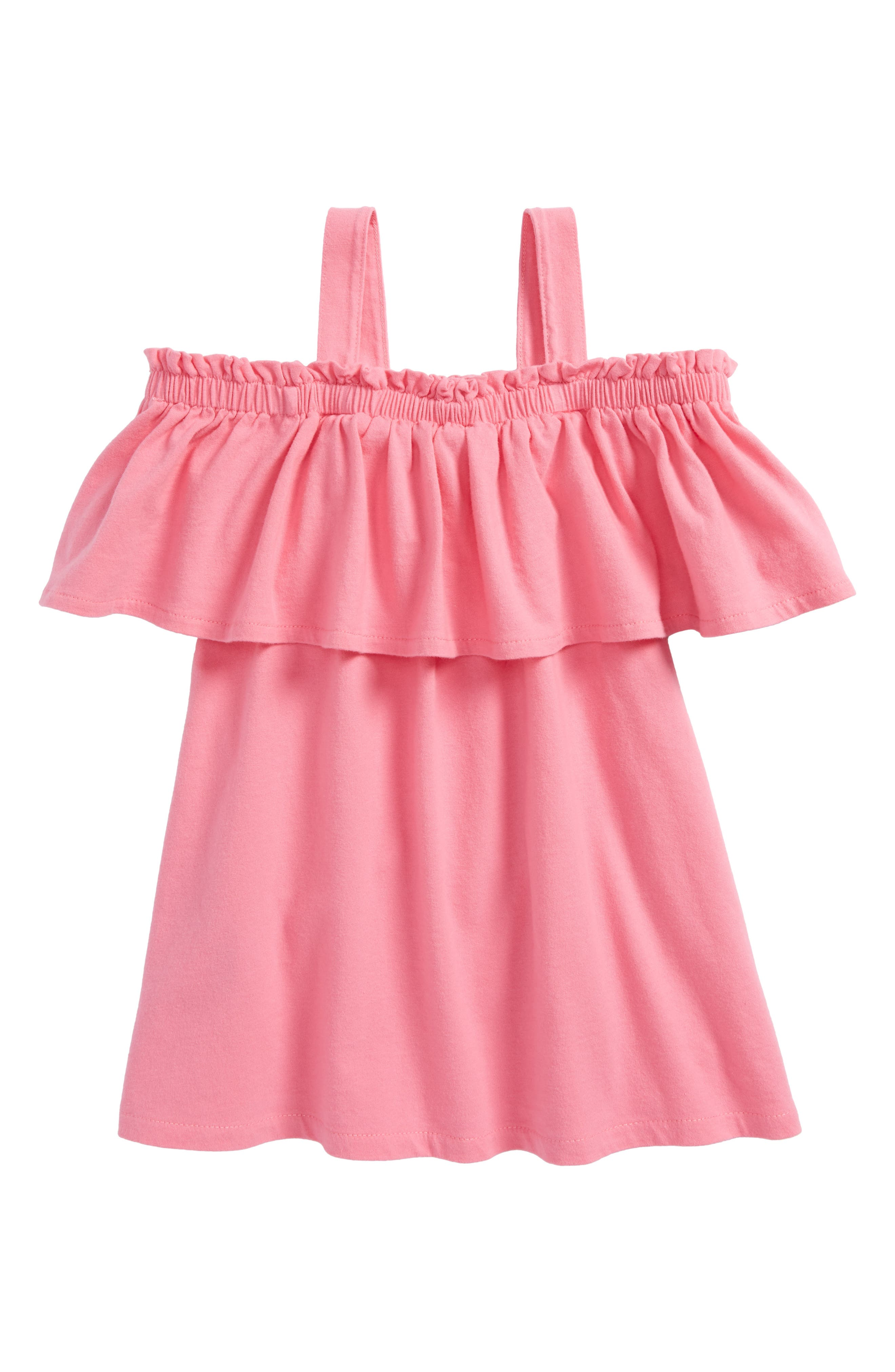 Candy Cold Shoulder Ruffle Top,                         Main,                         color, Pink Floyd