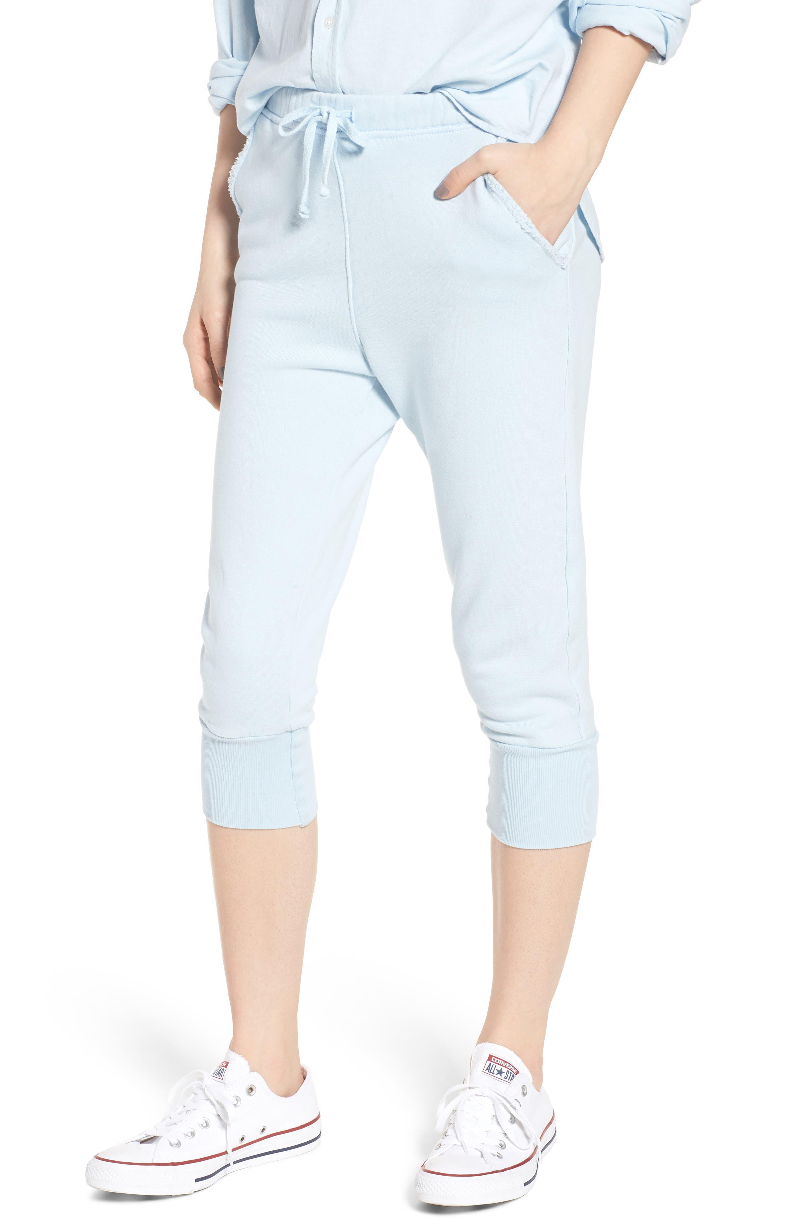 Crop Sweatpants,                         Main,                         color, Mali-Blue