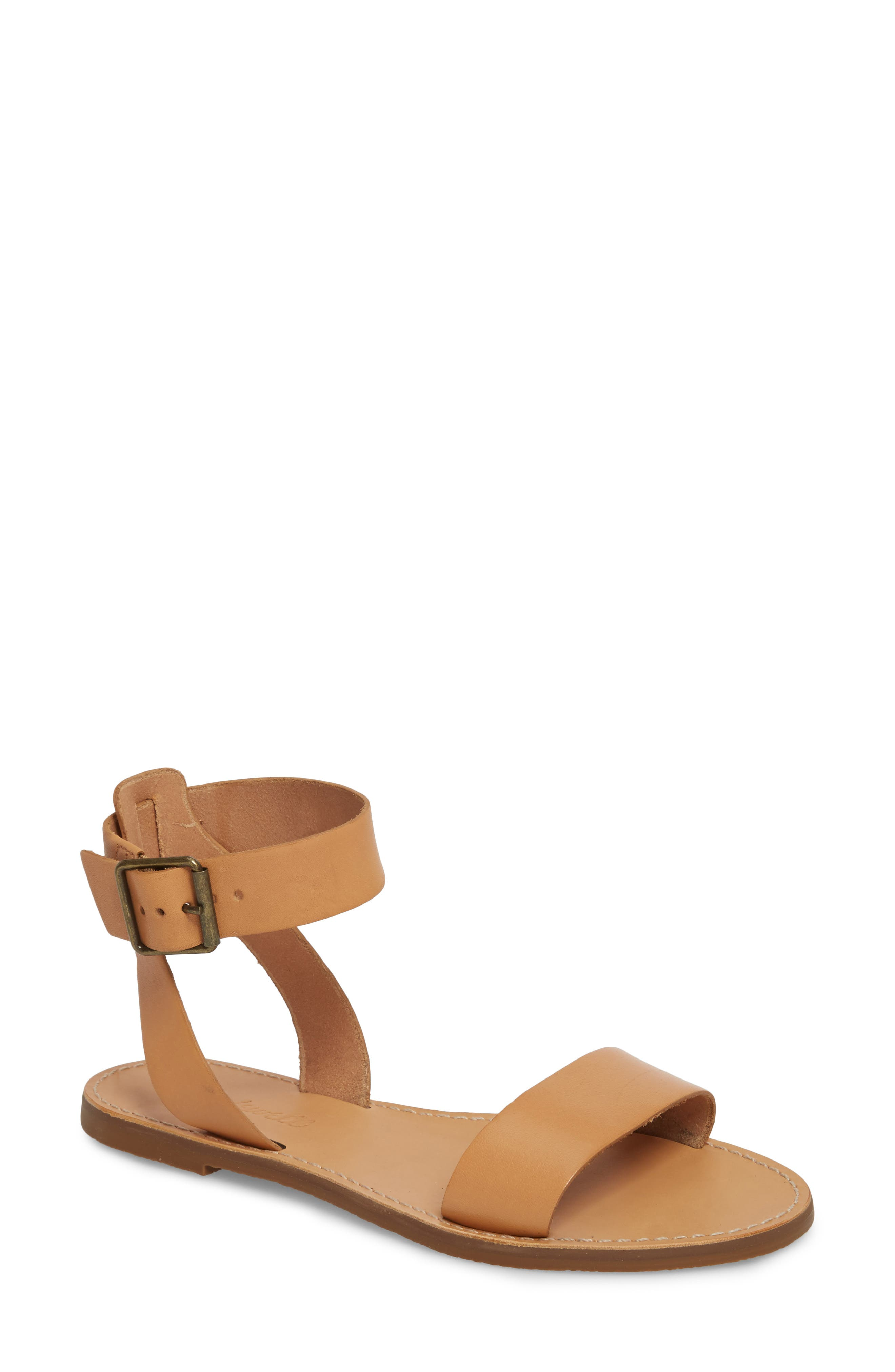 Madewell The Boardwalk Ankle Strap Sandal (Women)