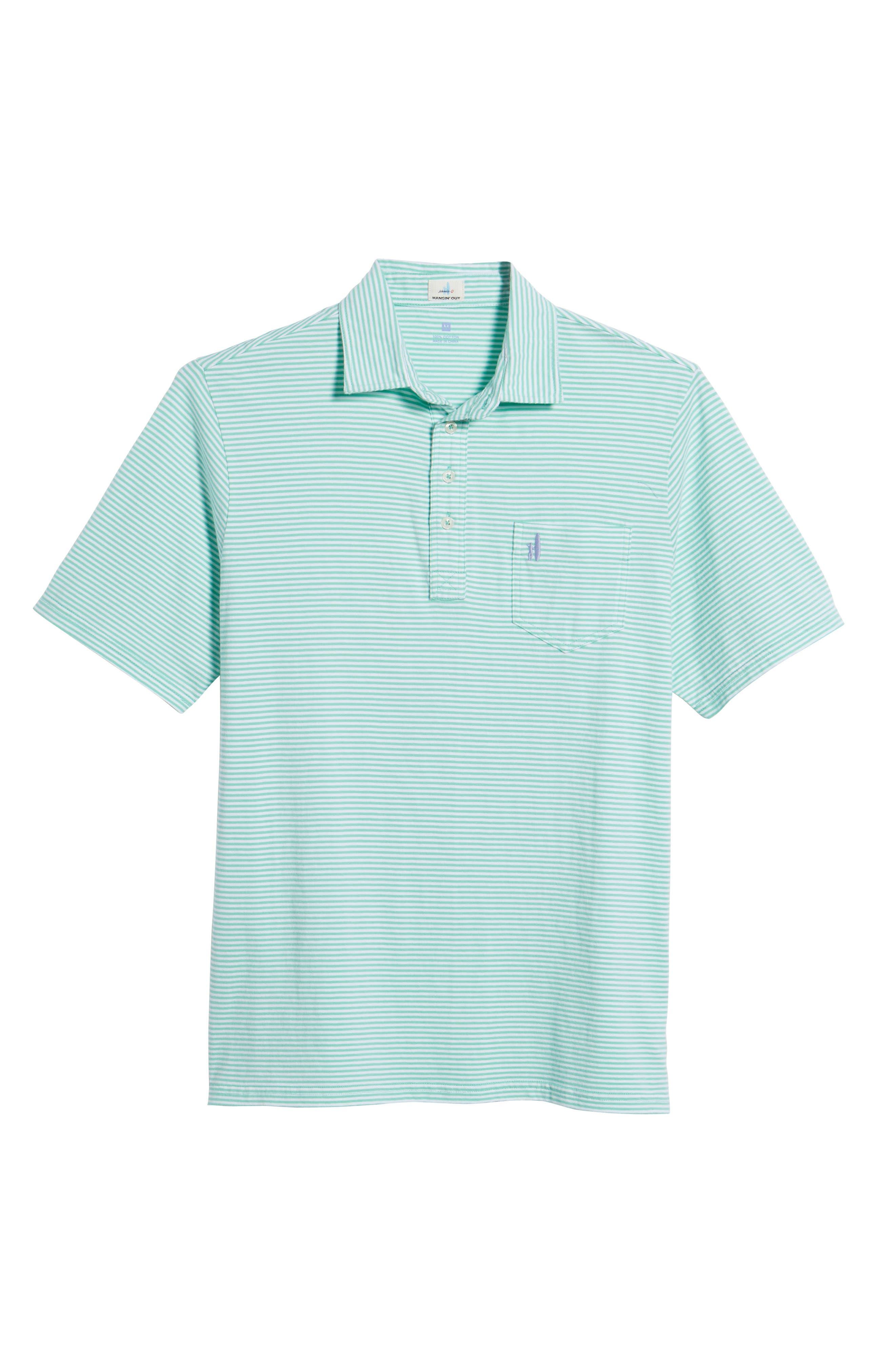 Jack Stripe Jersey Polo,                             Alternate thumbnail 6, color,                             Fern