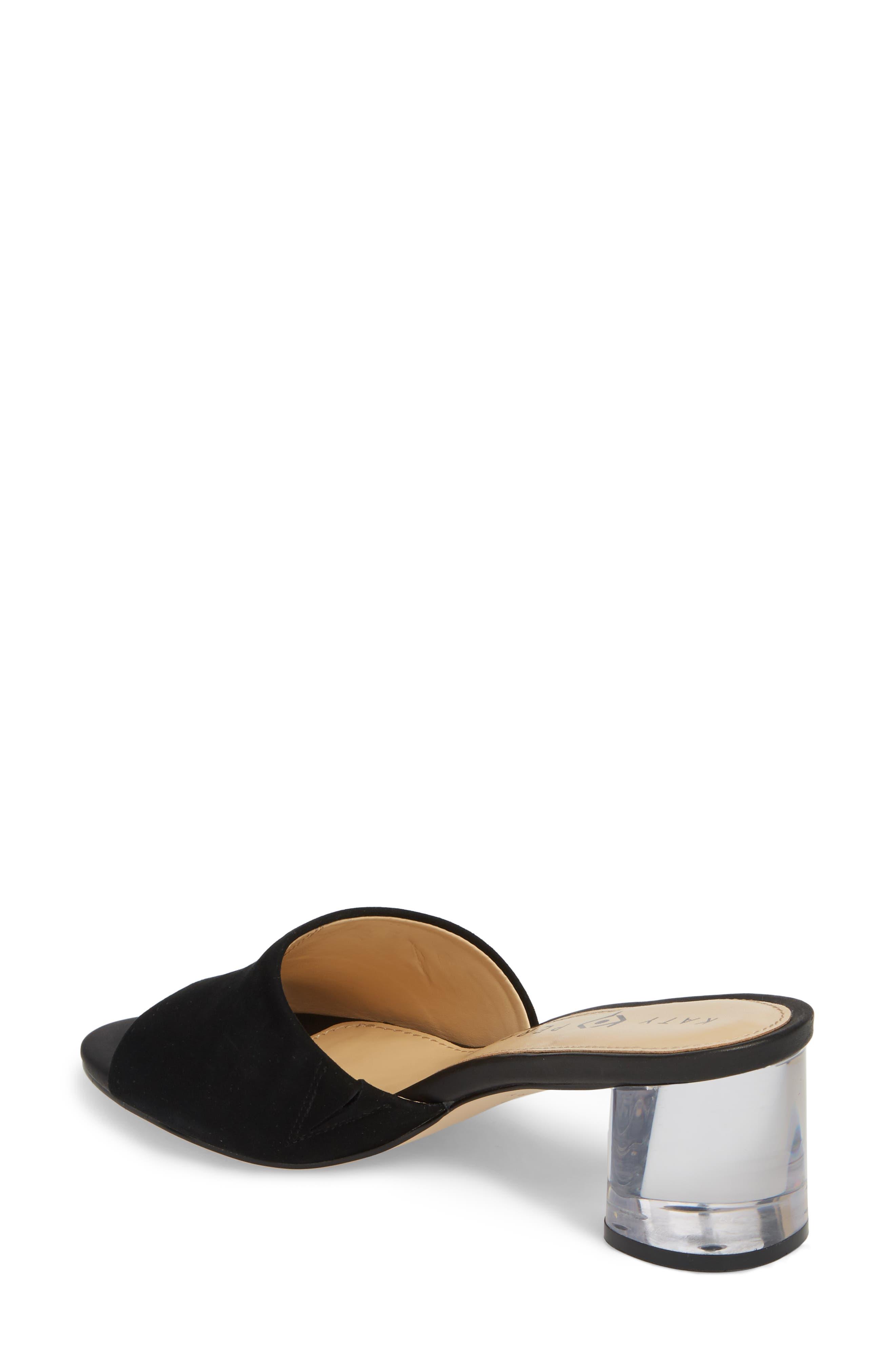 The Kaitlynn Slide Sandal,                             Alternate thumbnail 2, color,                             Black Suede