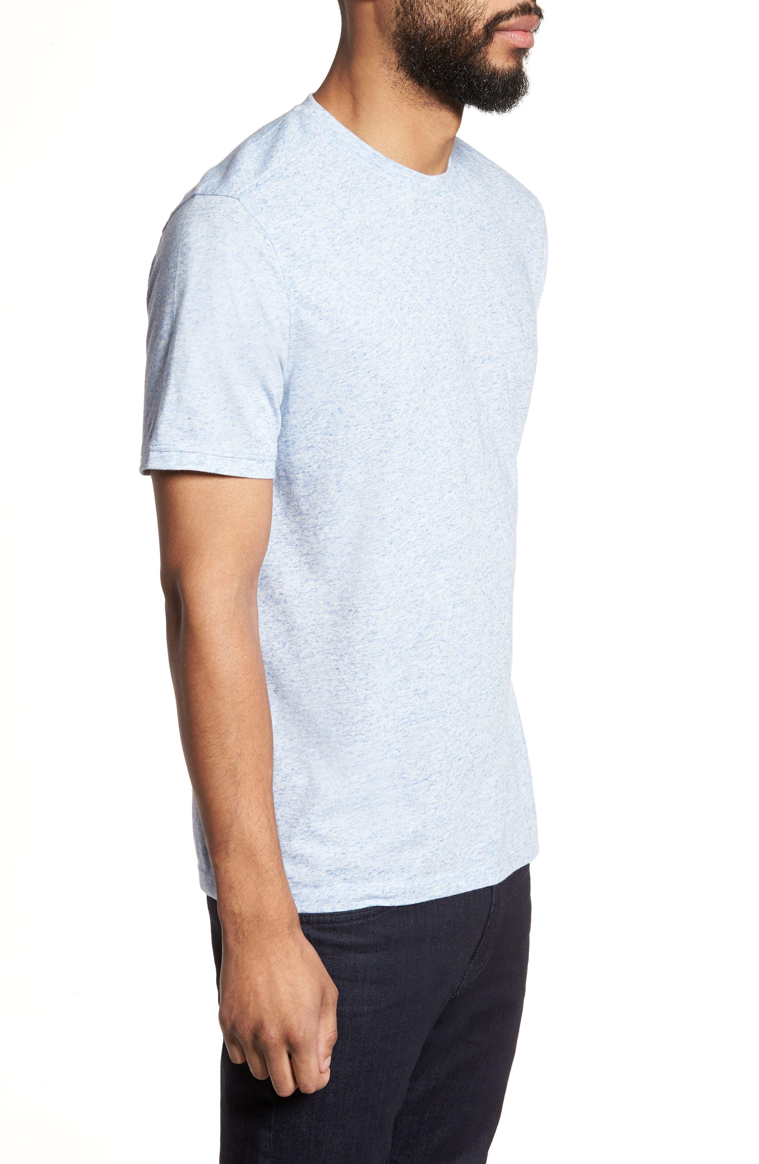 Crewneck T-Shirt,                             Alternate thumbnail 3, color,                             Blue Lake Heather