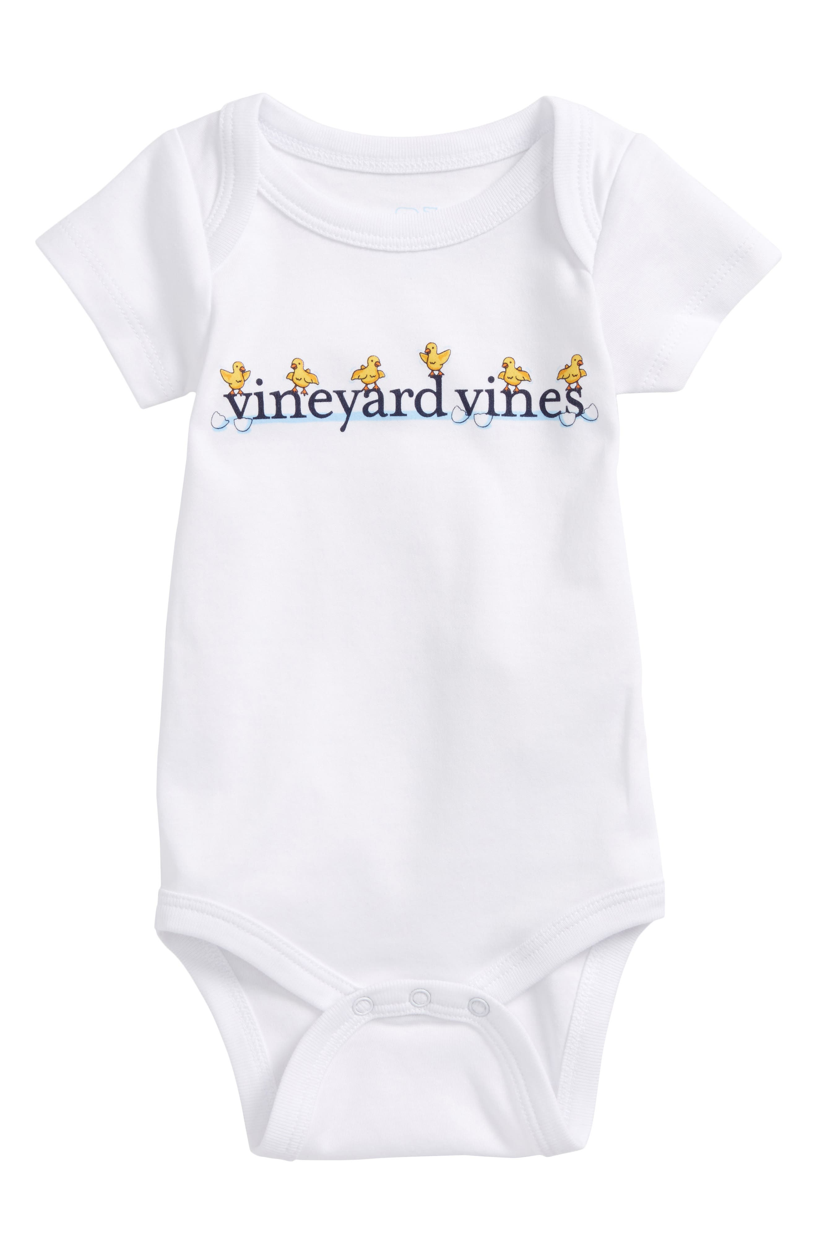 Alternate Image 1 Selected - vineyard vines Easter Chick Pima Cotton Bodysuit (Baby)