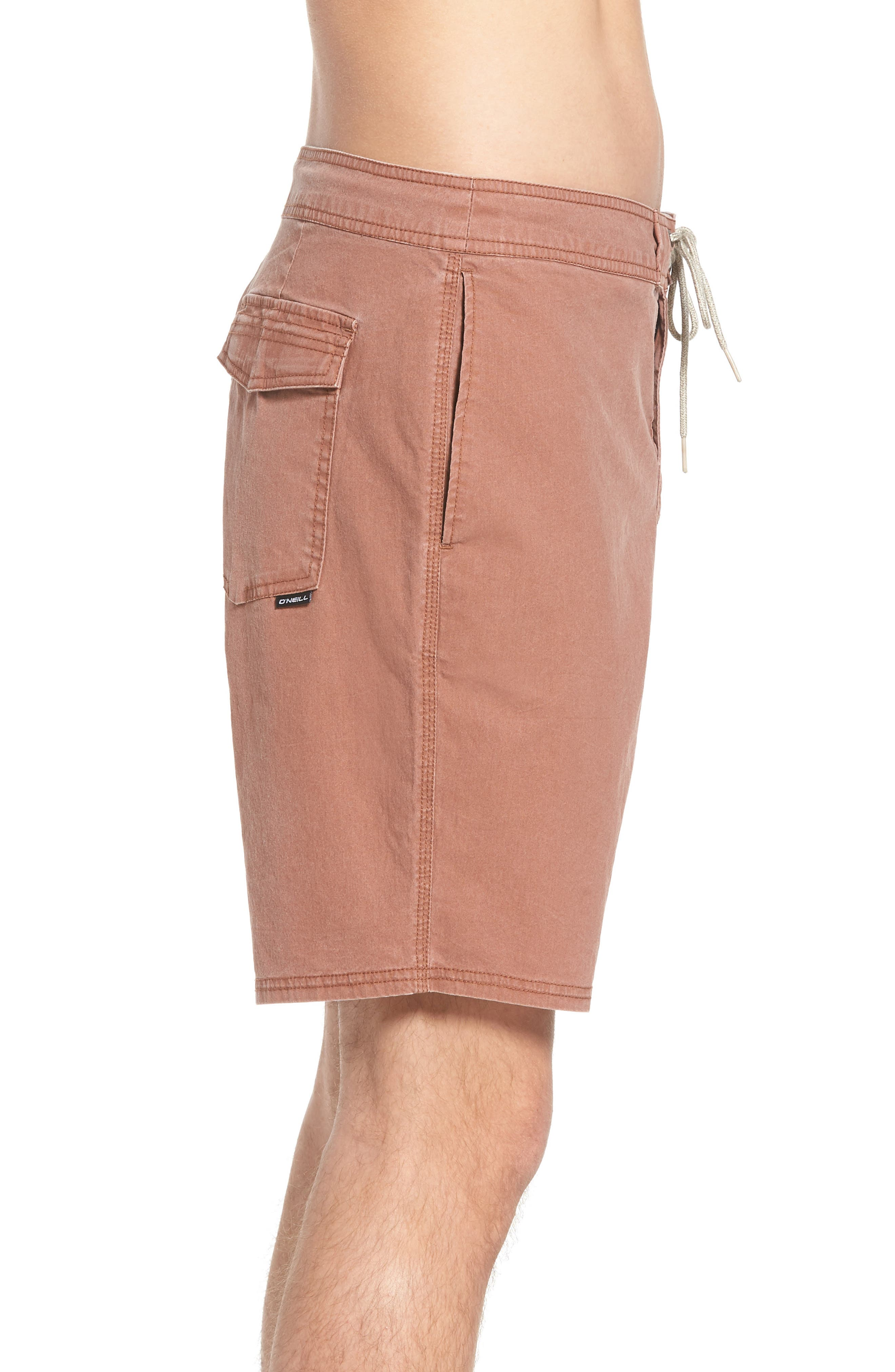 Faded Cruzer Board Shorts,                             Alternate thumbnail 3, color,                             Russet