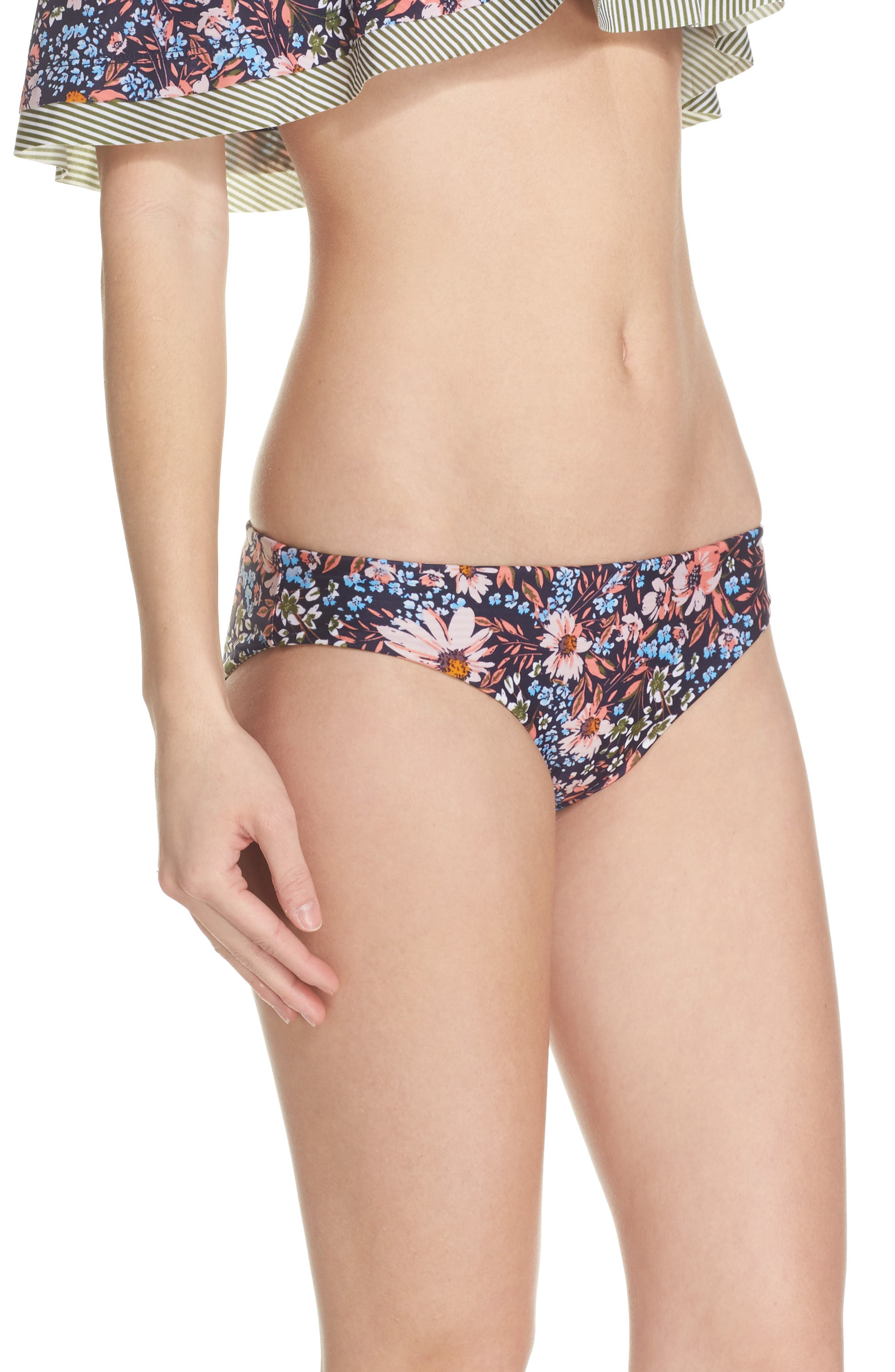 Enchanted Reversible Bikini Bottoms,                             Alternate thumbnail 4, color,                             Olive Multi
