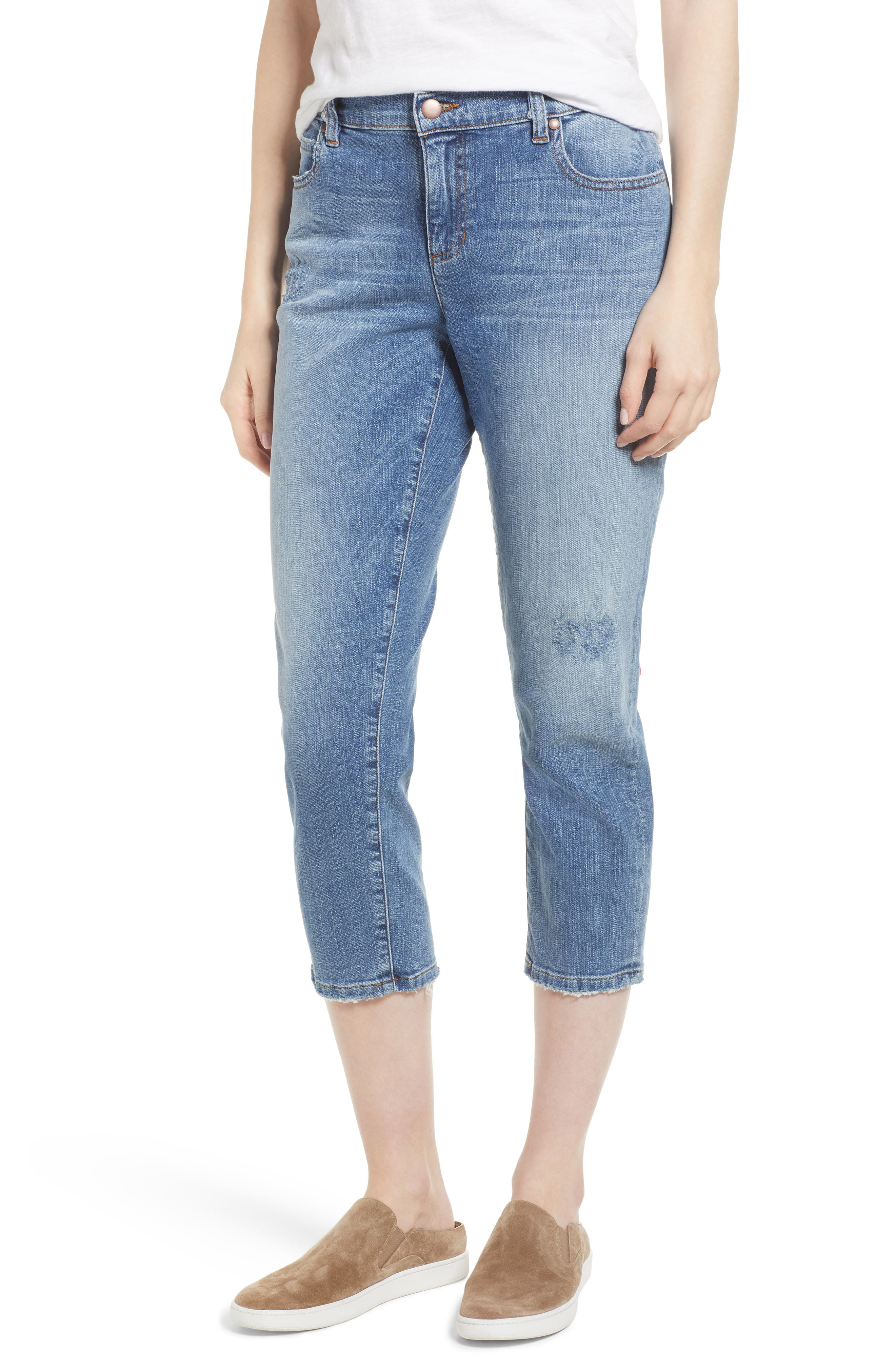 Eileen Fisher Tapered Stretch Organic Cotton Crop Jeans (Regular & Petite)