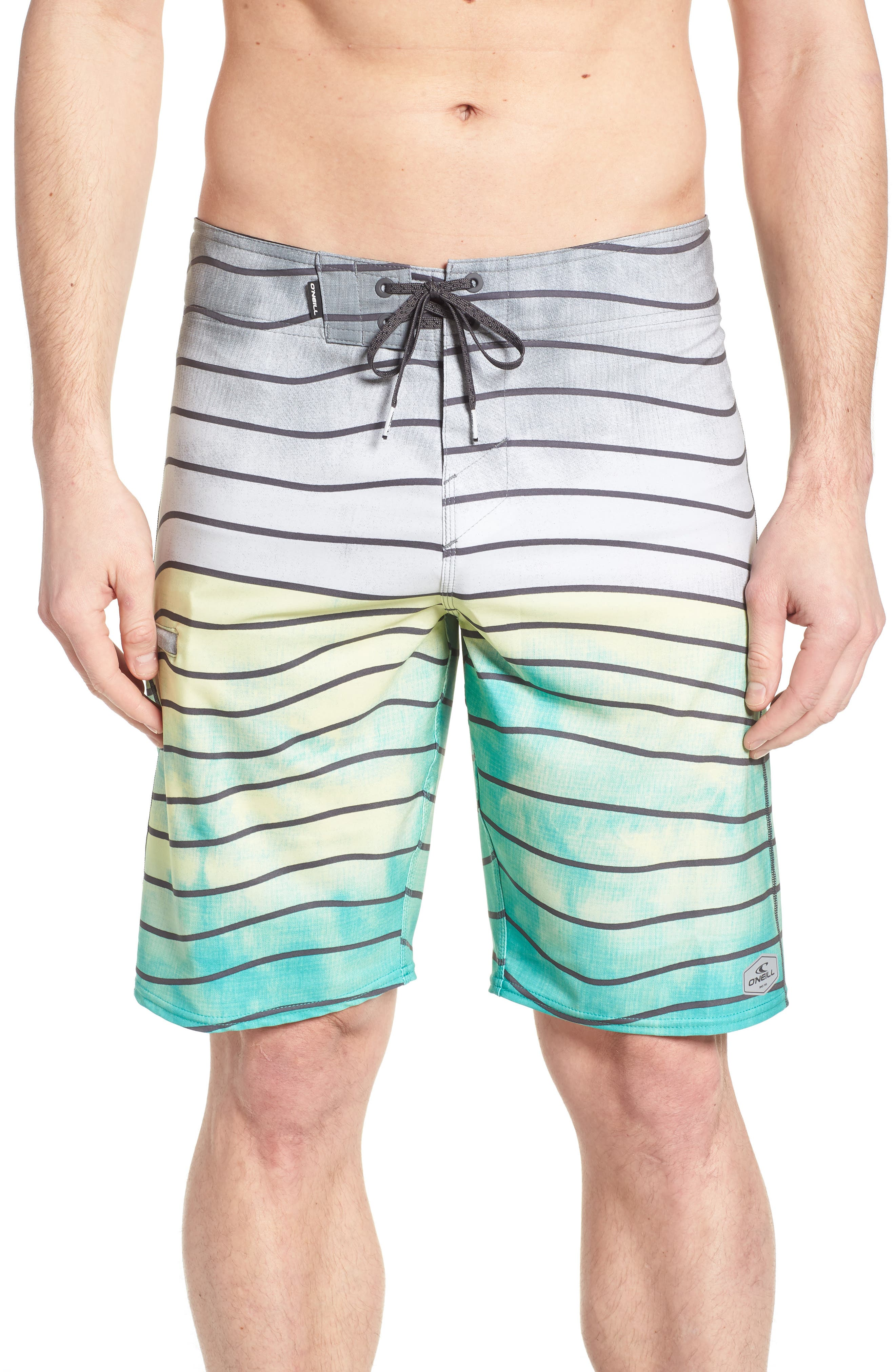 Hyperfreak Swell Board Shorts,                             Main thumbnail 1, color,                             Ocean
