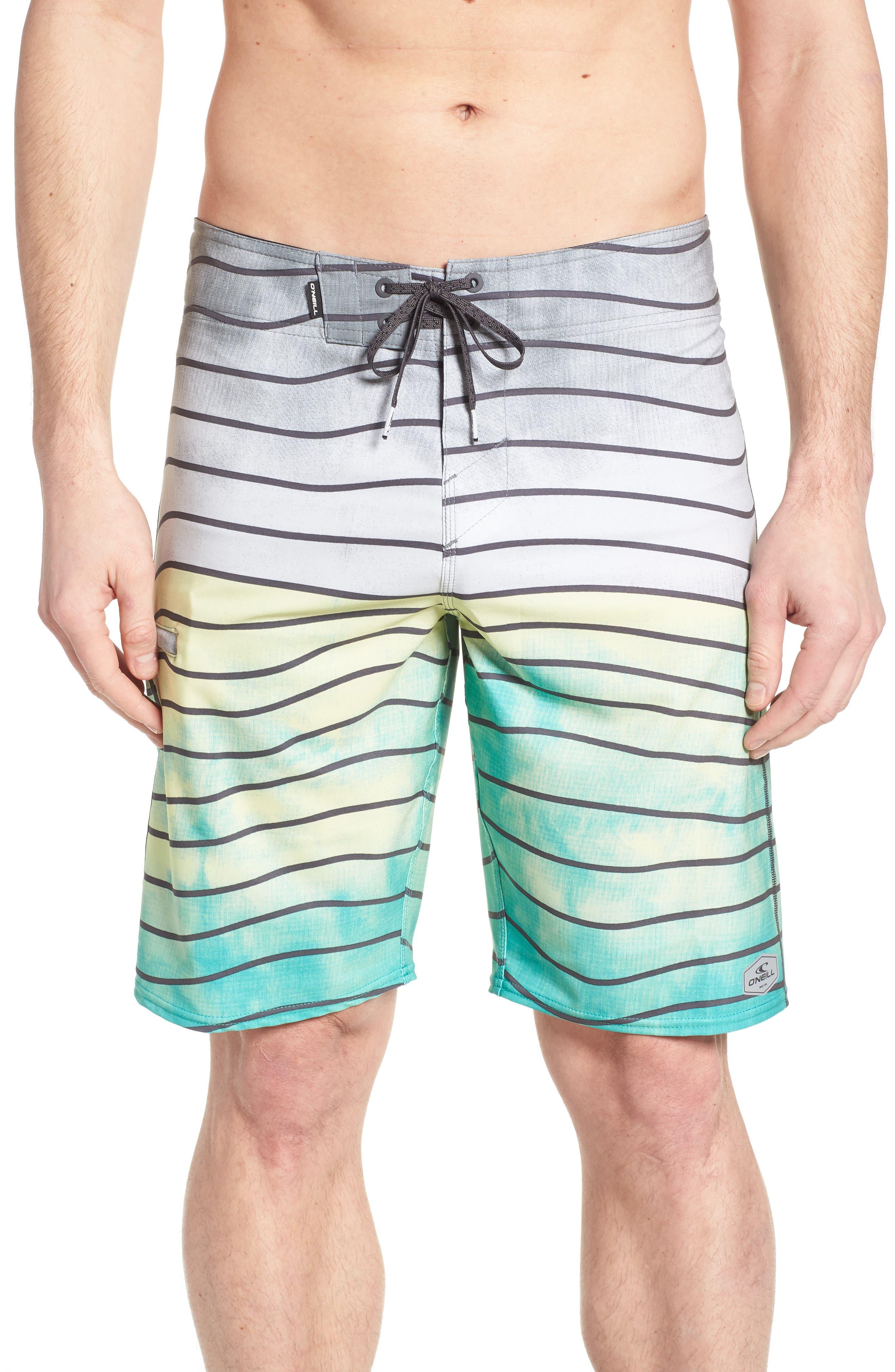 Hyperfreak Swell Board Shorts,                         Main,                         color, Ocean