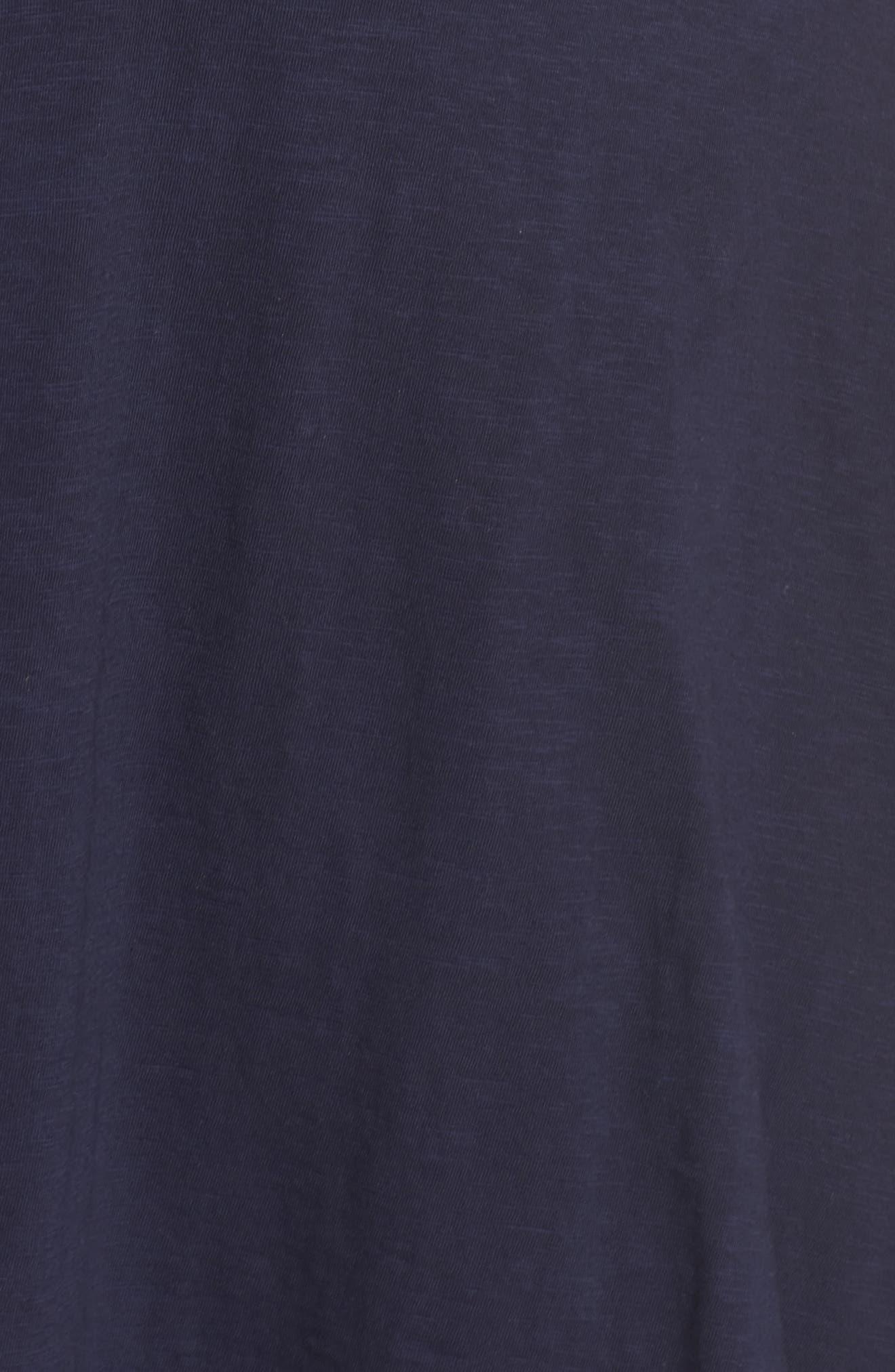 Twist Front Knit Dress,                             Alternate thumbnail 5, color,                             Navy Peacoat
