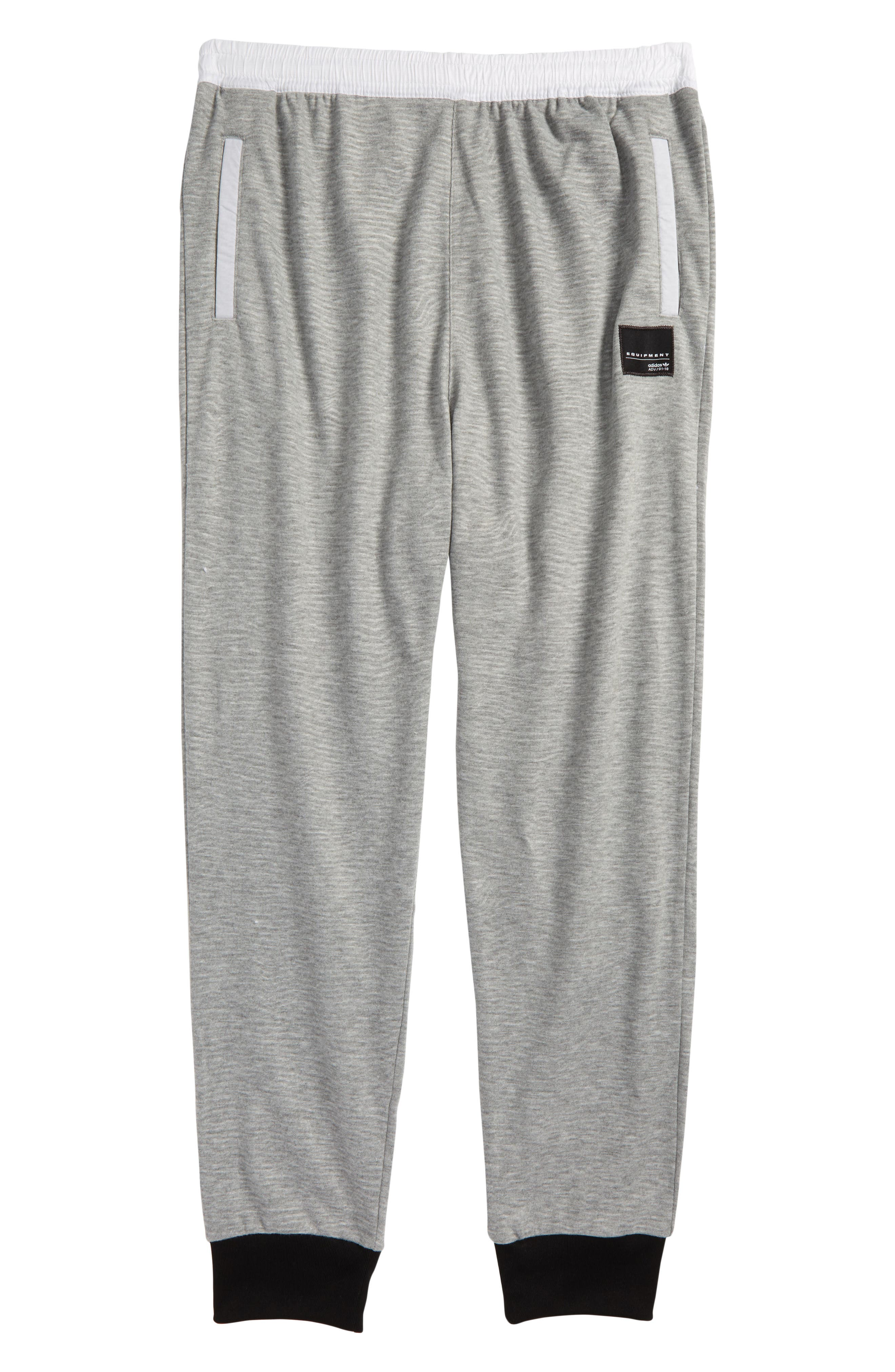 EQT Track Pants,                         Main,                         color, Medium Grey Heather/ Black