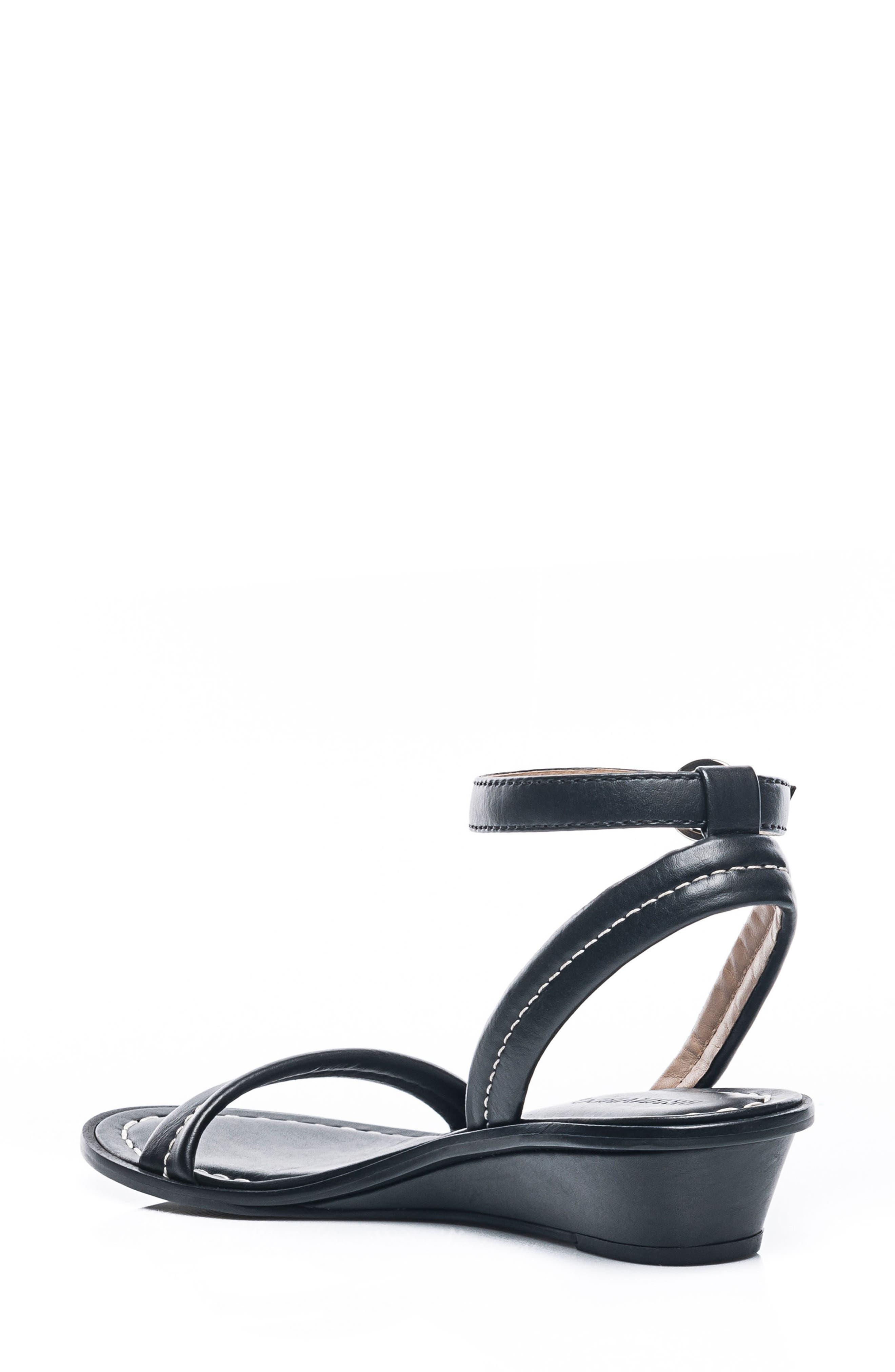 Bernardo Catherine Ankle Strap Sandal,                             Alternate thumbnail 2, color,                             Black Antique