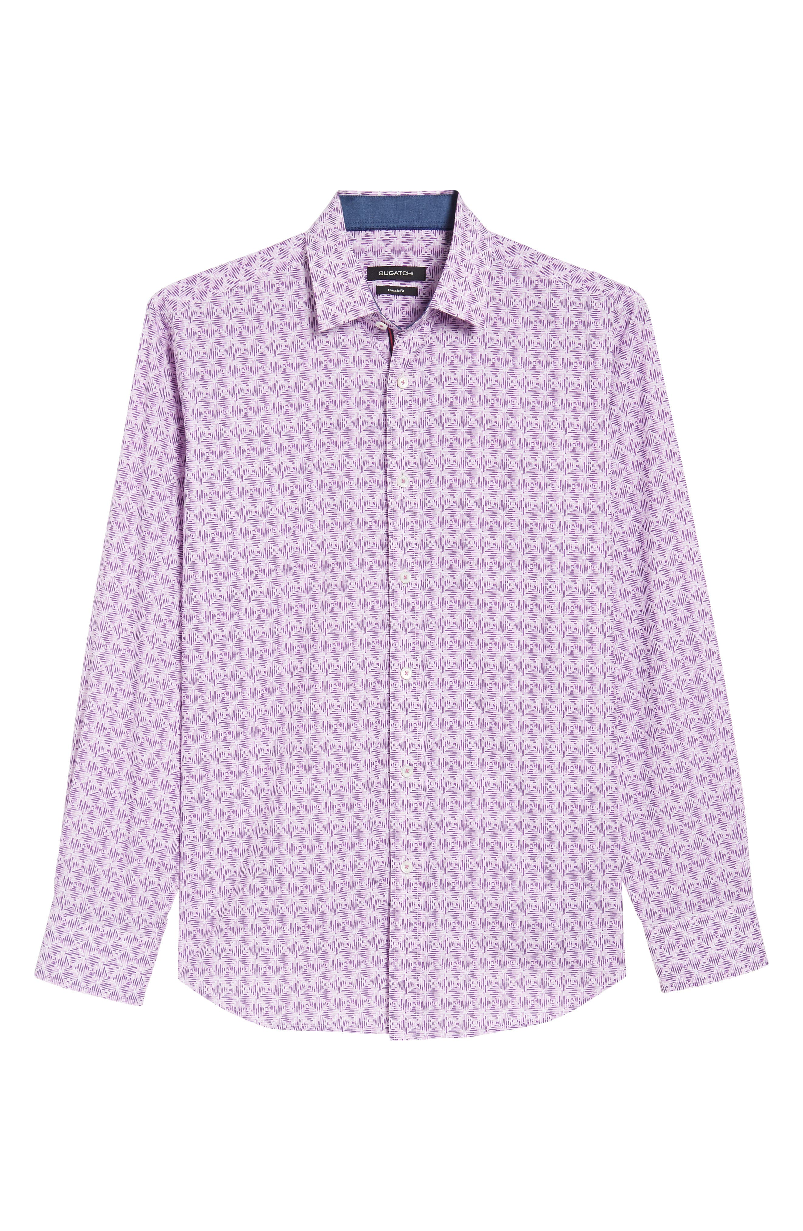 Classic Fit Woven Sport Shirt,                             Alternate thumbnail 6, color,                             Pink