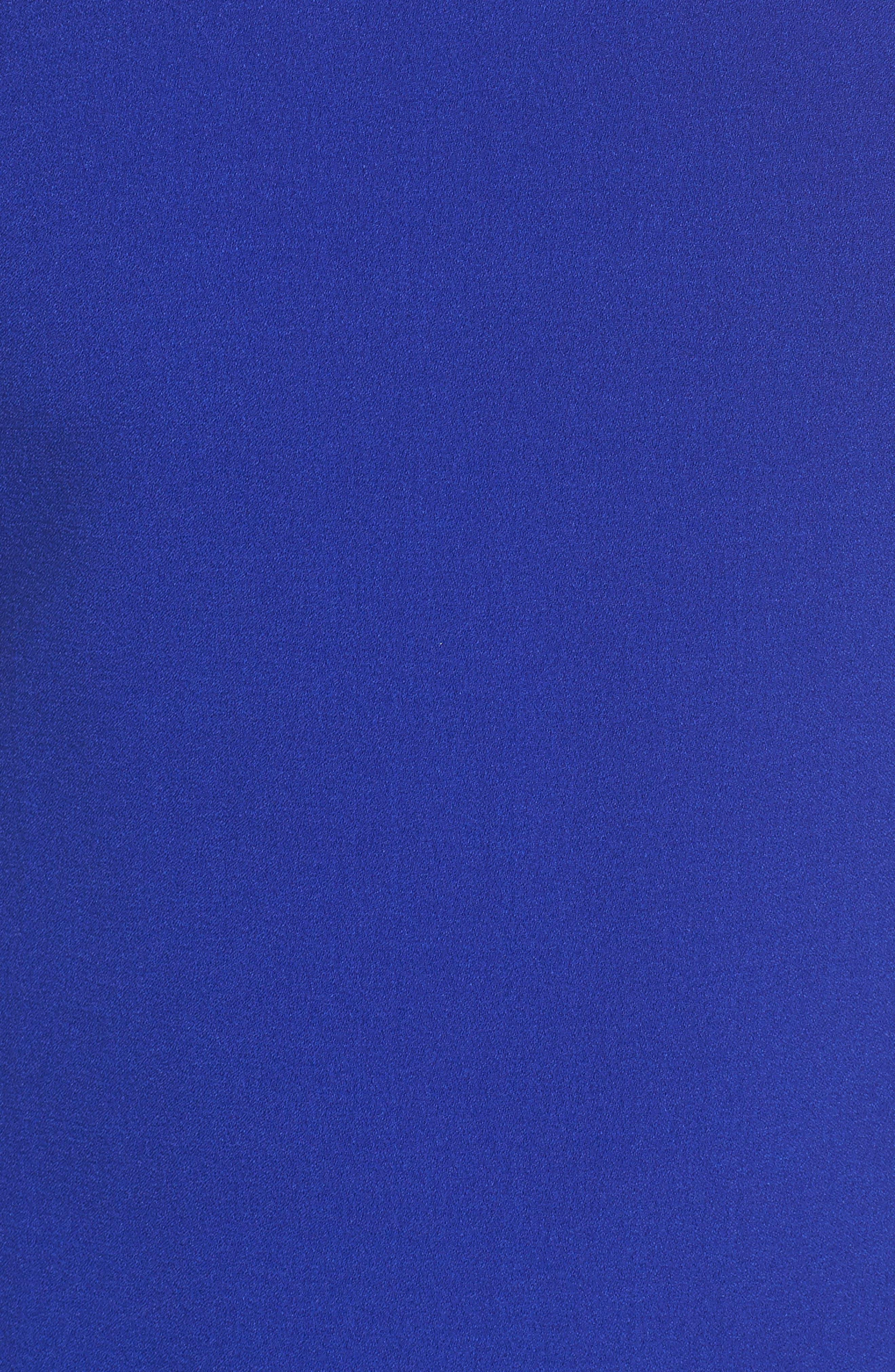 Ruffle Shoulder Crepe Shift Dress,                             Alternate thumbnail 5, color,                             Blue Surf