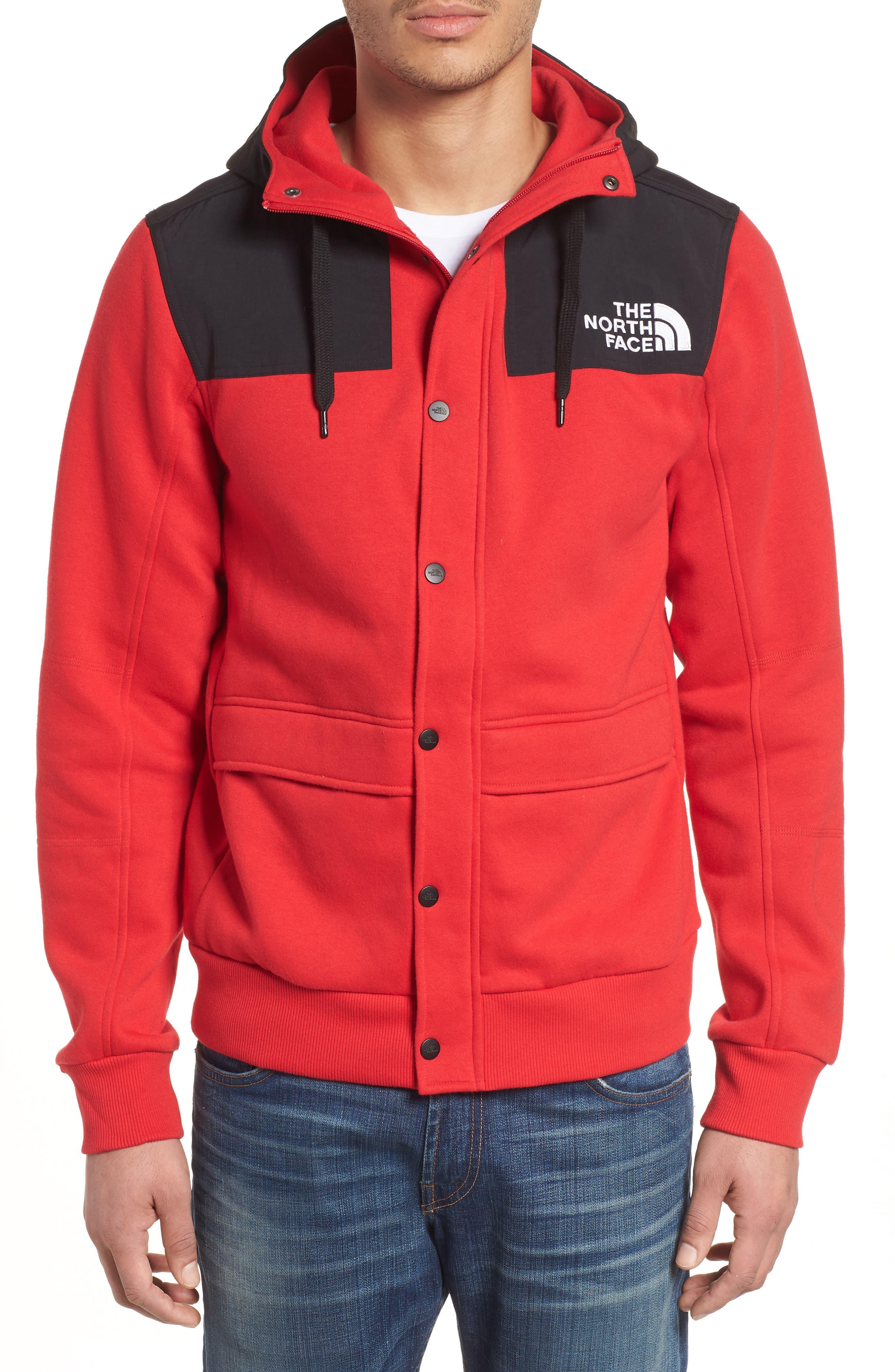 Rivington II Hooded Jacket,                             Alternate thumbnail 4, color,                             Red